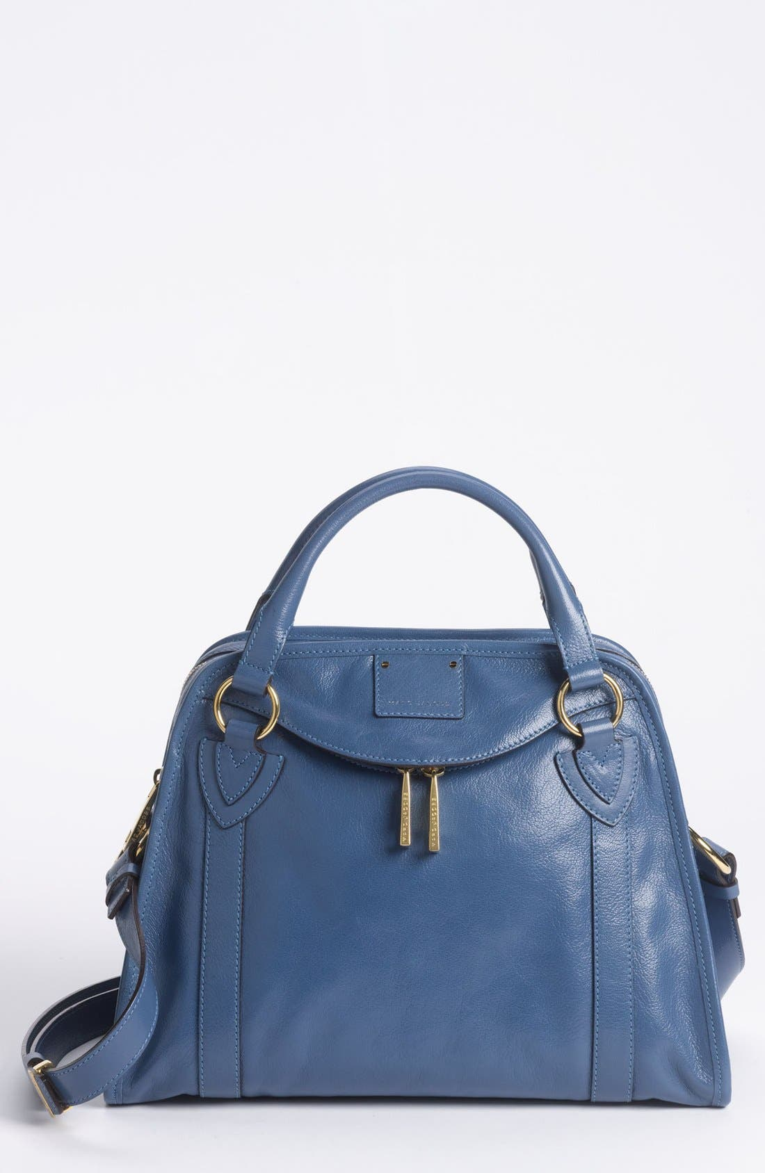 'Classic Wellington' Leather Satchel,                             Main thumbnail 9, color,