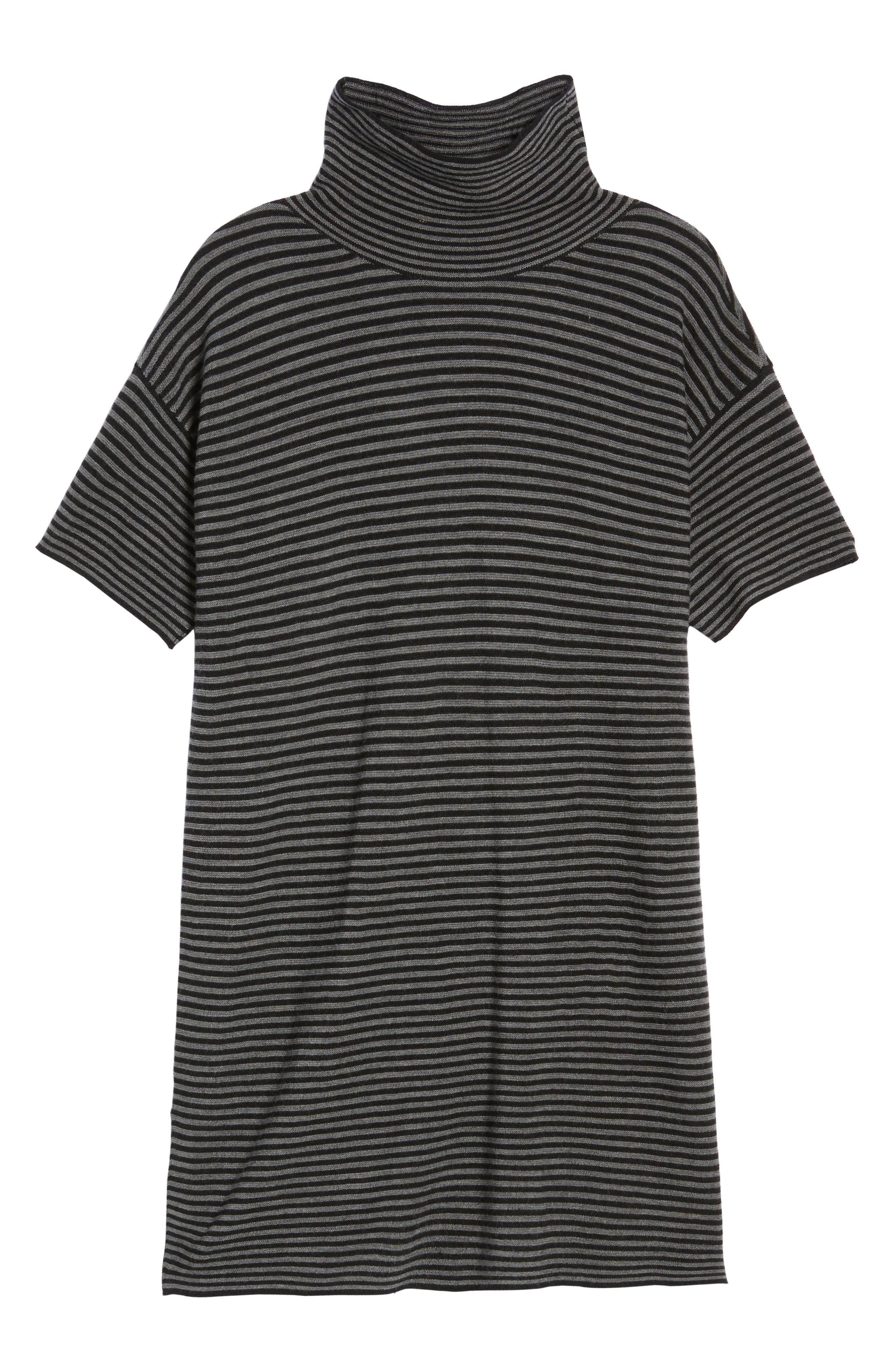 Stripe Merino Wool Tunic,                             Alternate thumbnail 6, color,                             028