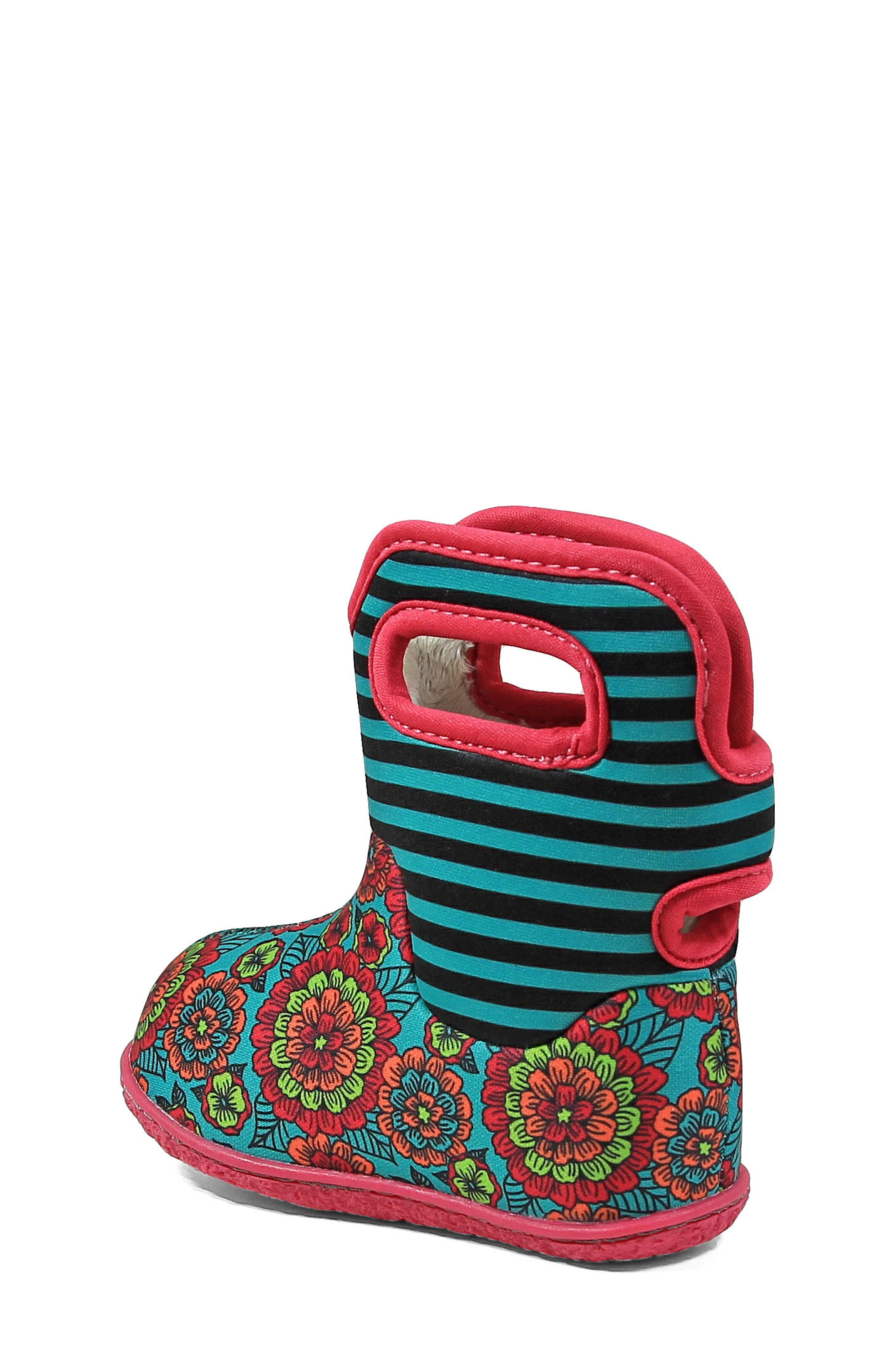 BOGS,                             Baby Bogs Classic Pansies Washable Insulated Waterproof Boot,                             Alternate thumbnail 2, color,                             346