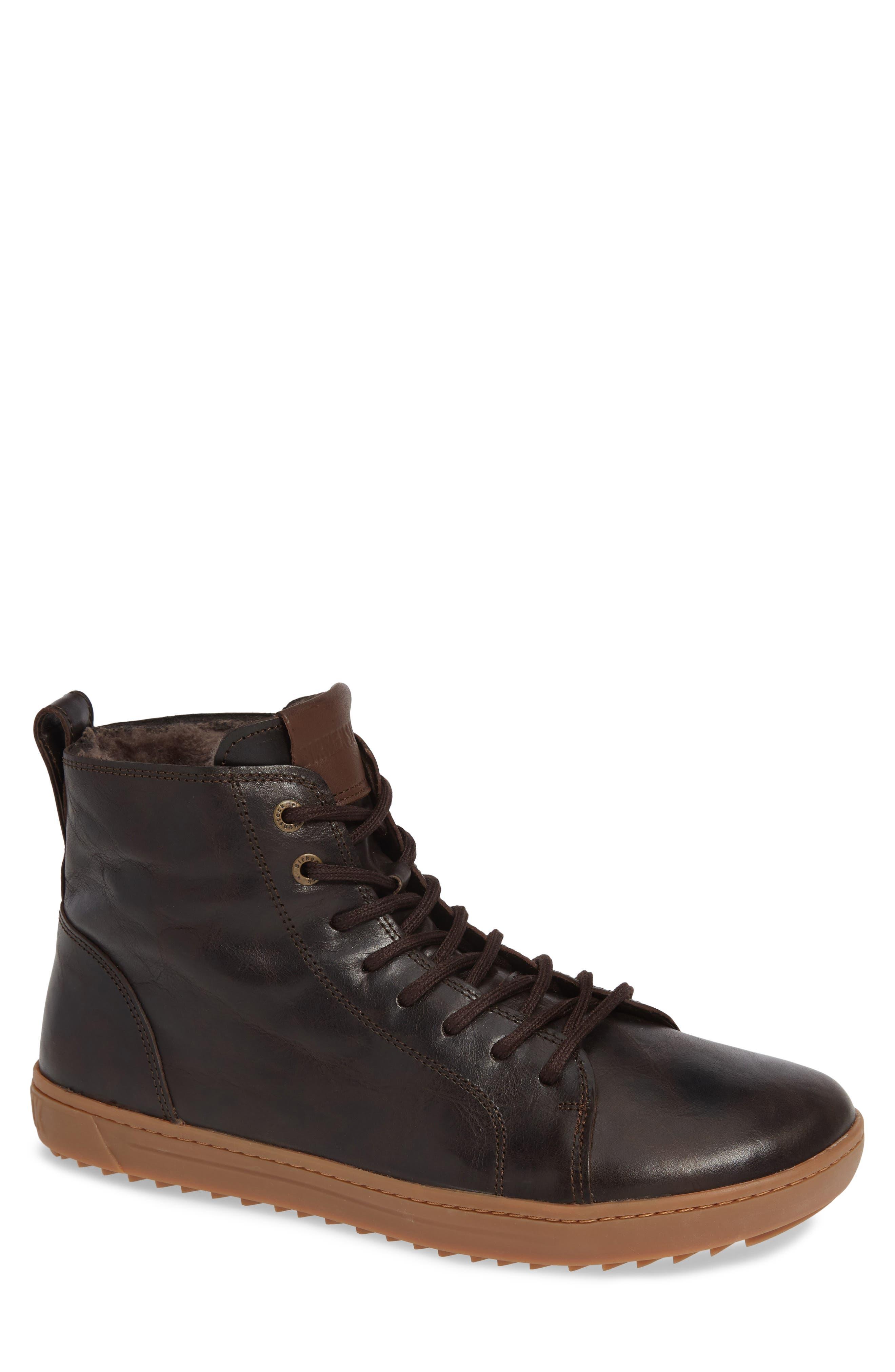 Barlett Genuine Shearling Sneaker,                         Main,                         color, BROWN