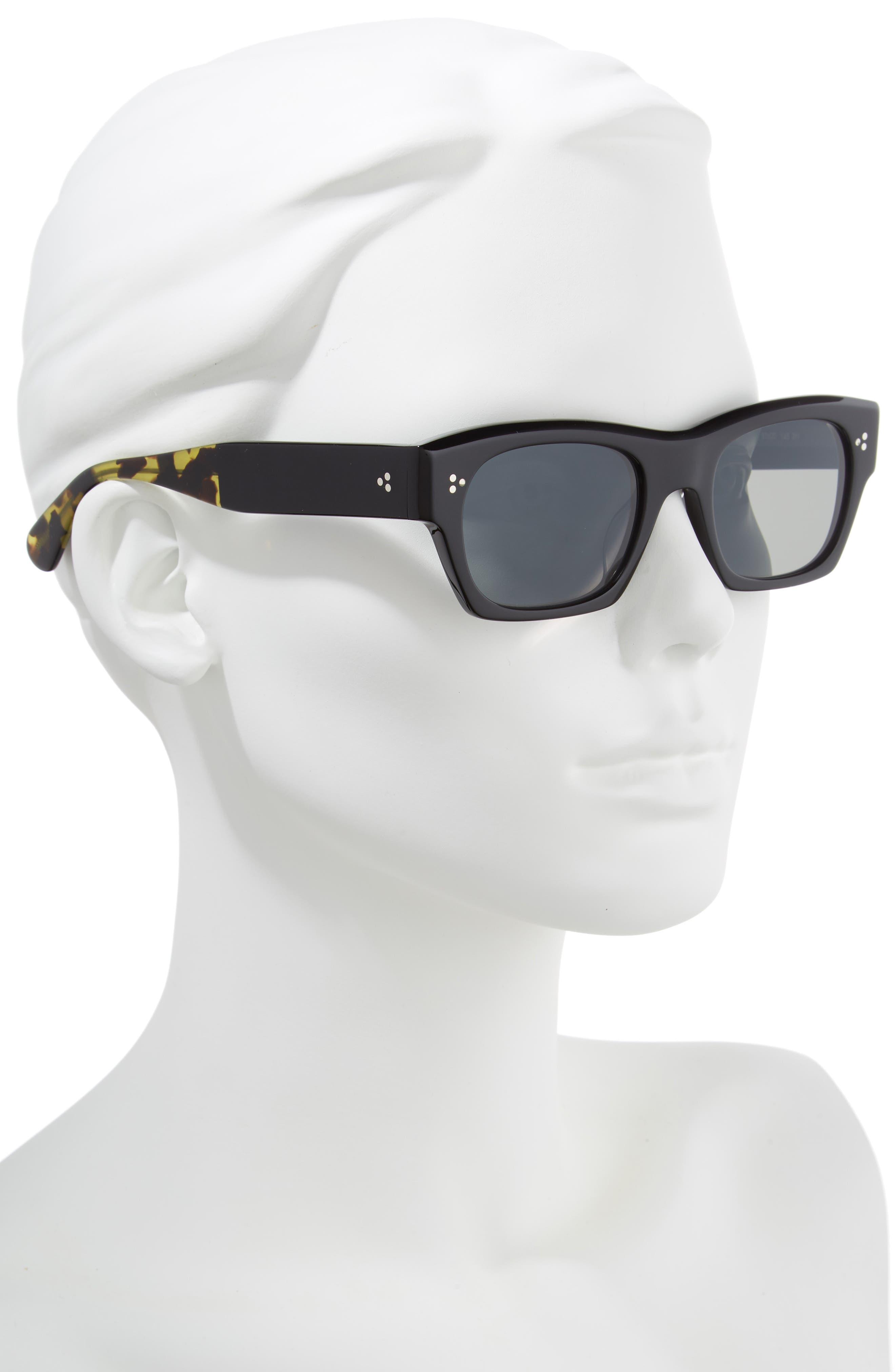 Isba 51mm Sunglasses,                             Alternate thumbnail 2, color,                             BLACK