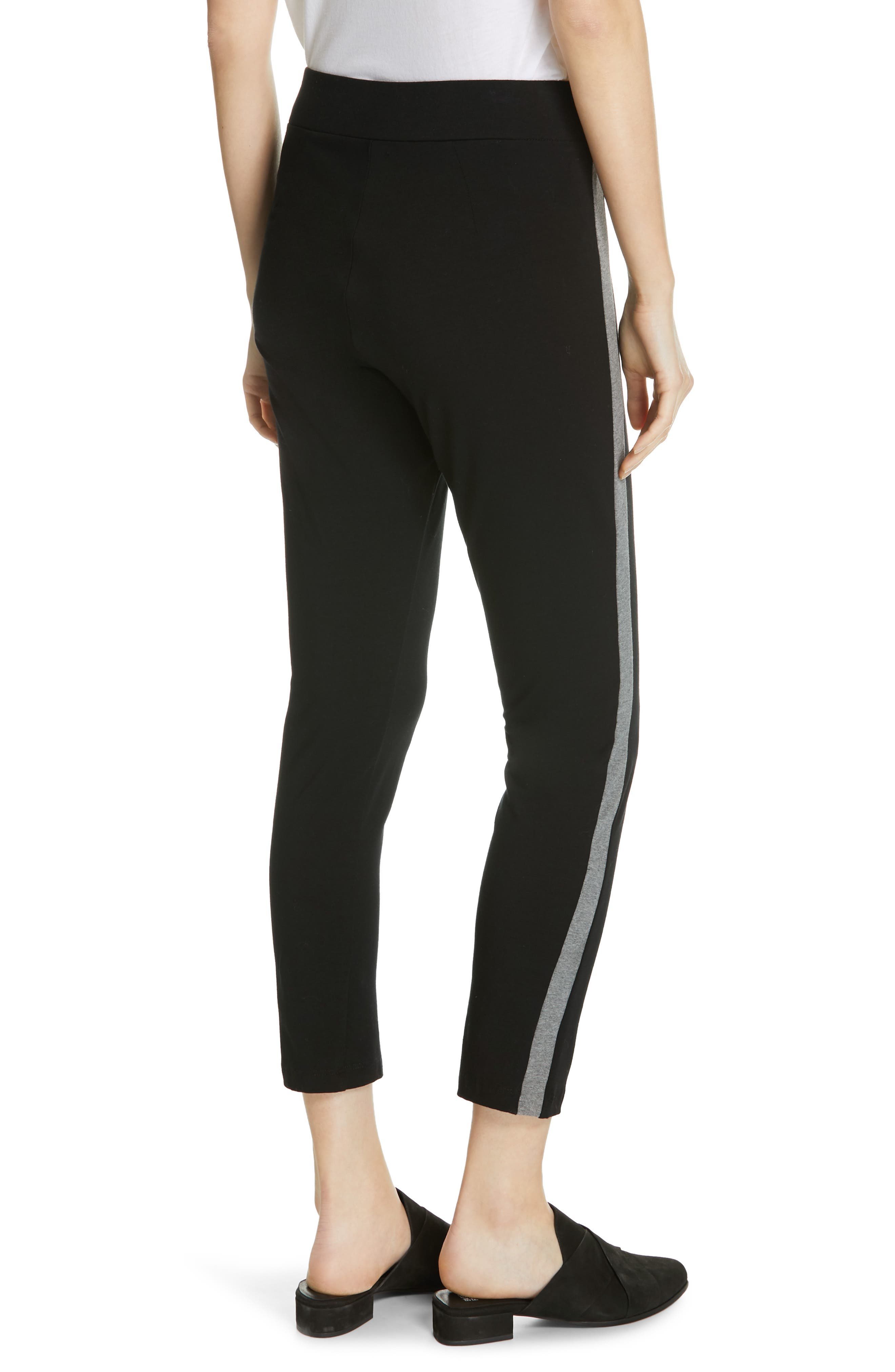 Side Stripe Slim Pants,                             Alternate thumbnail 2, color,                             BLACK