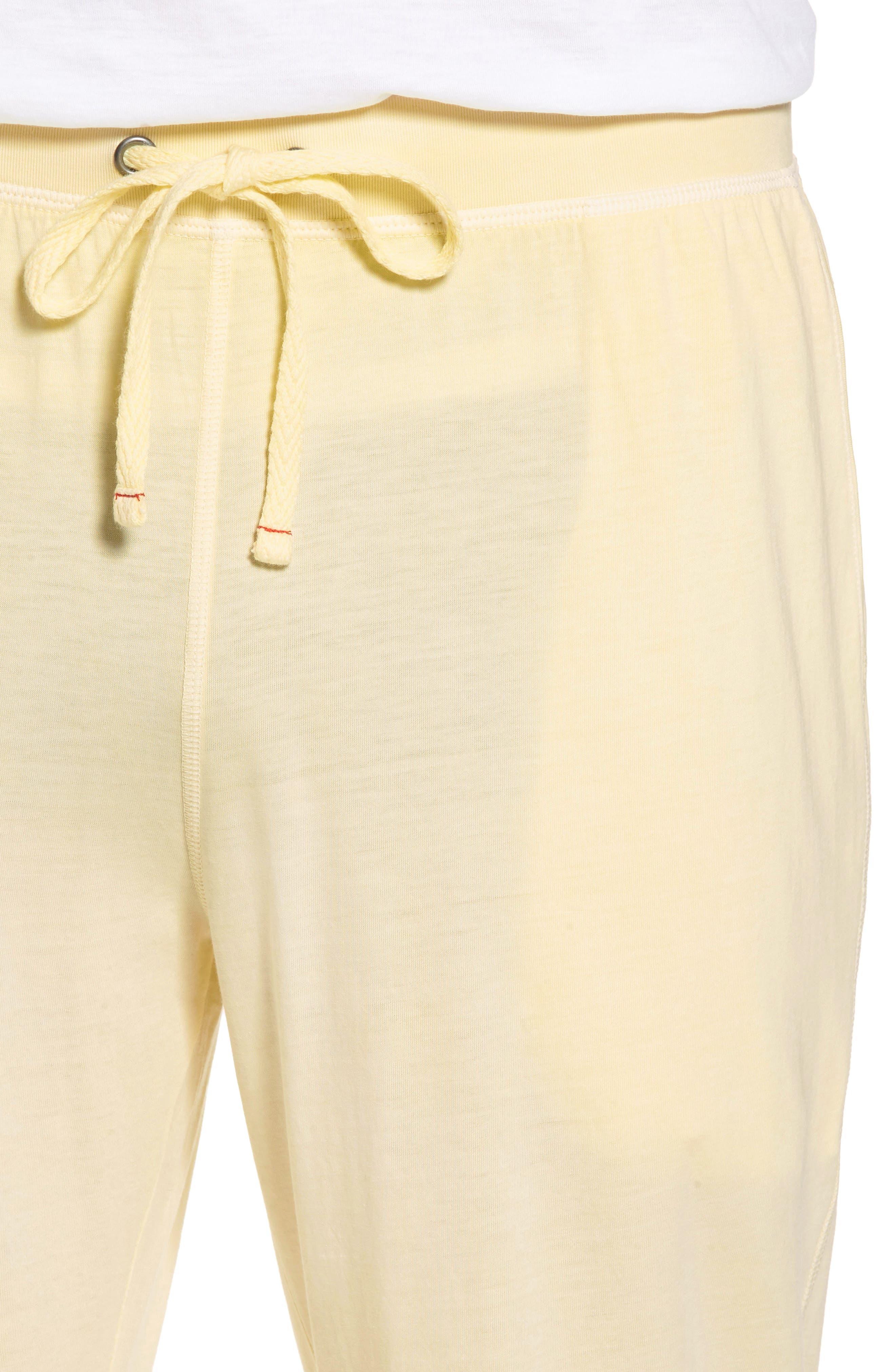 Peruvian Pima Cotton Lounge Pants,                             Alternate thumbnail 4, color,                             YELLOW