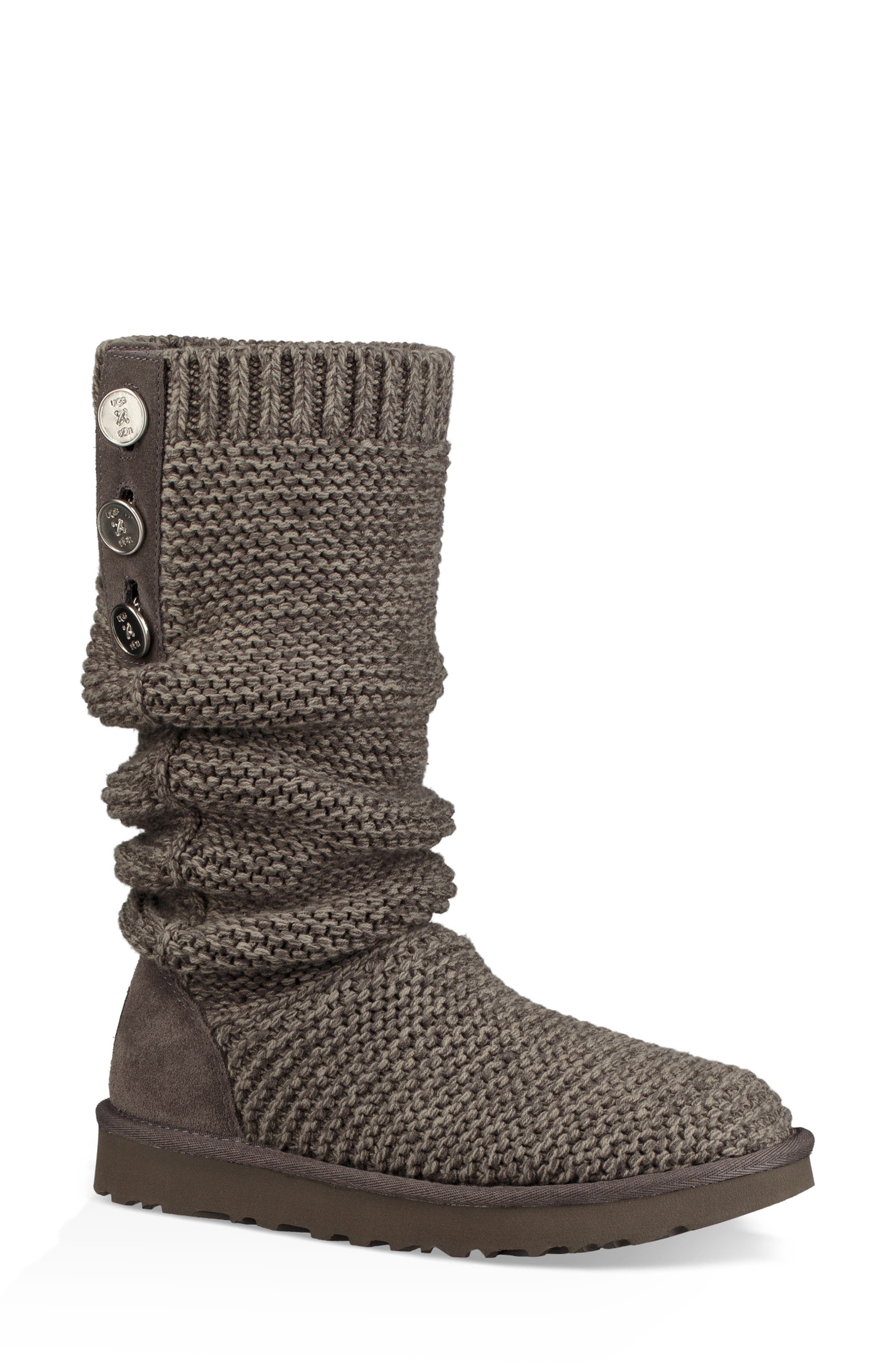 Ugg Purl Cardy Knit Boot, Grey