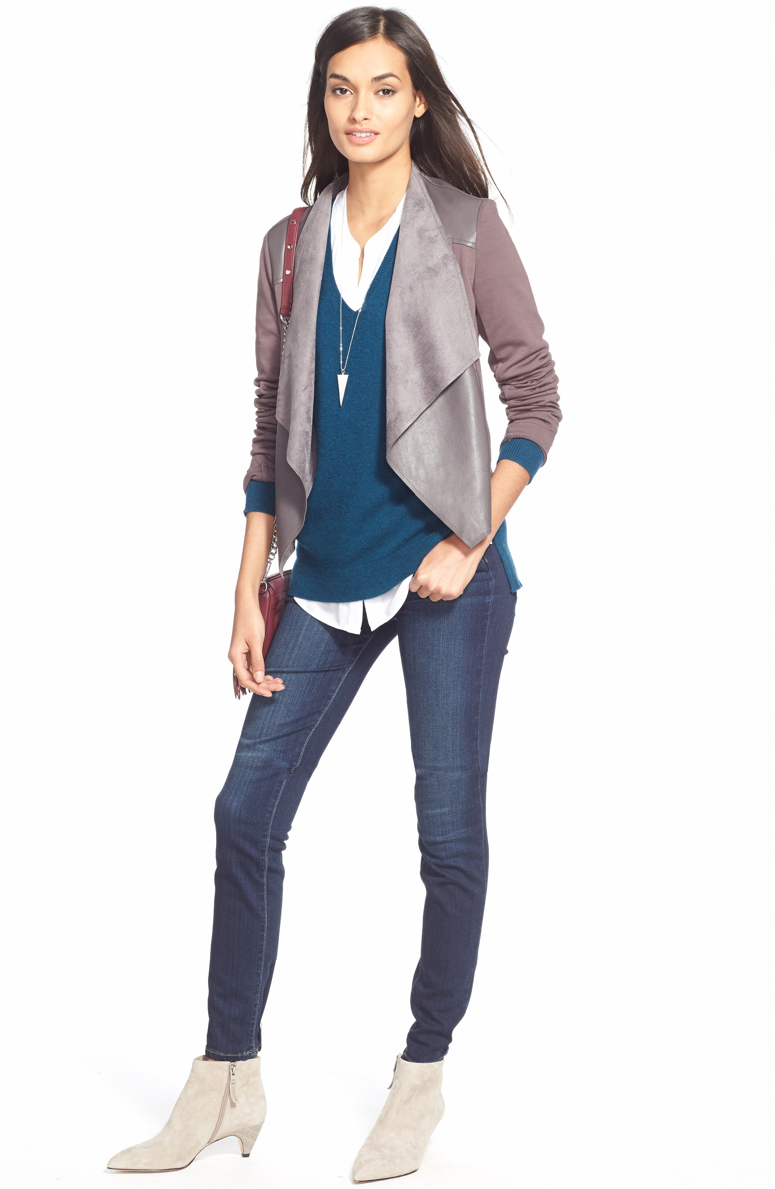 Denim 'Skyline' Skinny Jeans,                             Alternate thumbnail 3, color,                             400