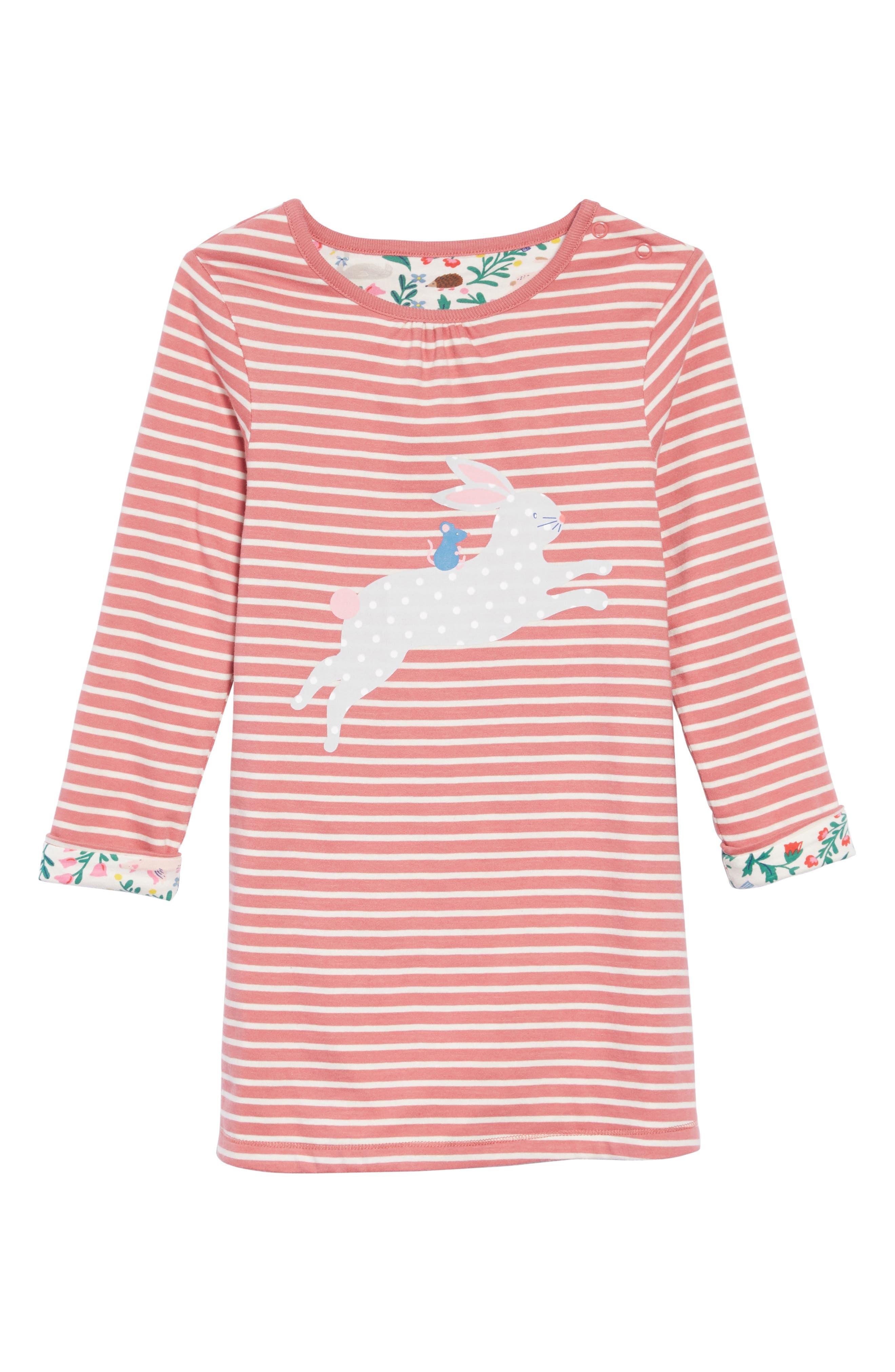 Reversible Jersey Dress,                             Main thumbnail 1, color,                             AUTUMN ROSE/ ECRU