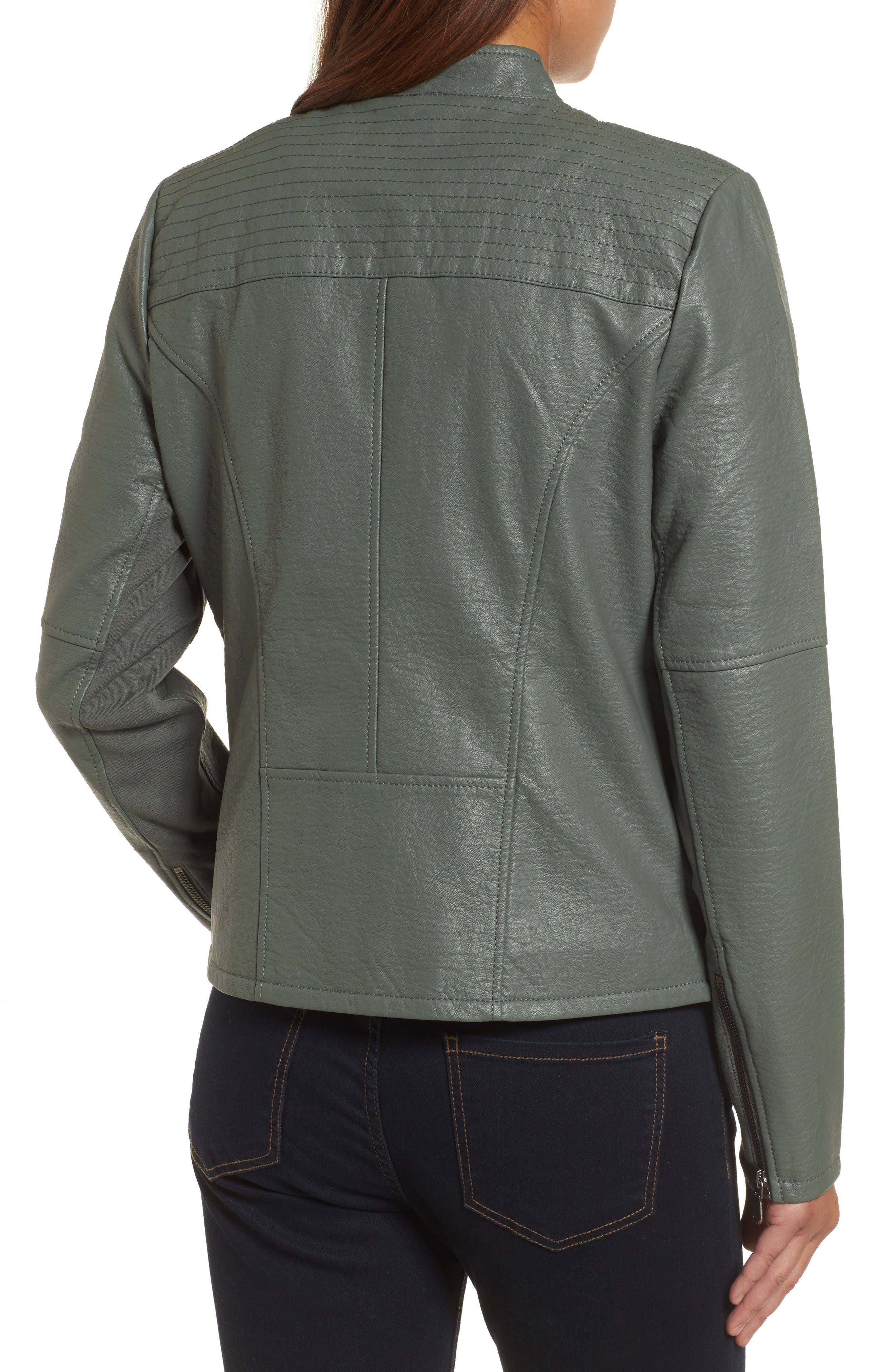 City Chic Faux Leather Jacket,                             Alternate thumbnail 2, color,                             374