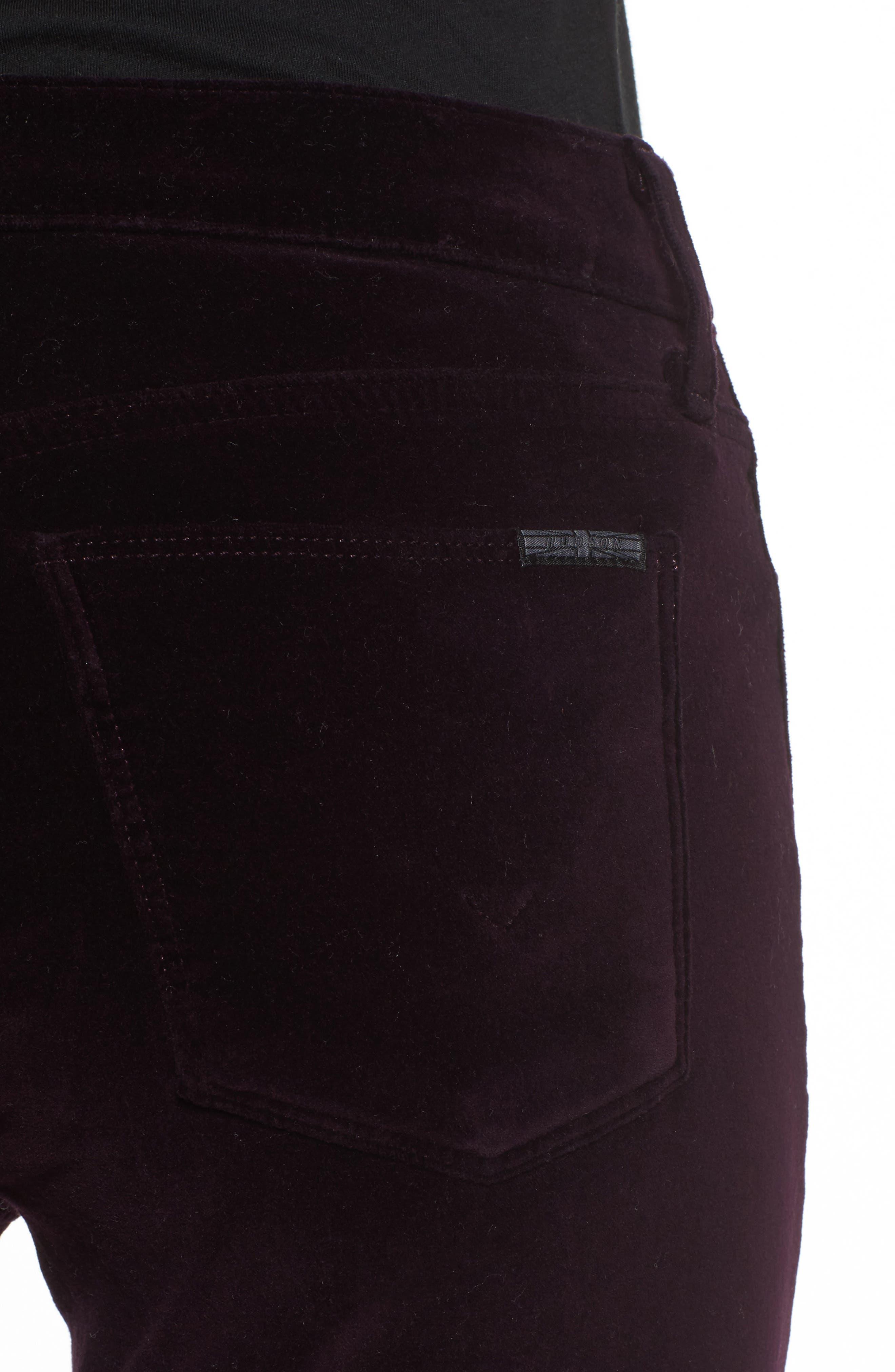 Nico Ankle Skinny Velvet Pants,                             Alternate thumbnail 4, color,                             500