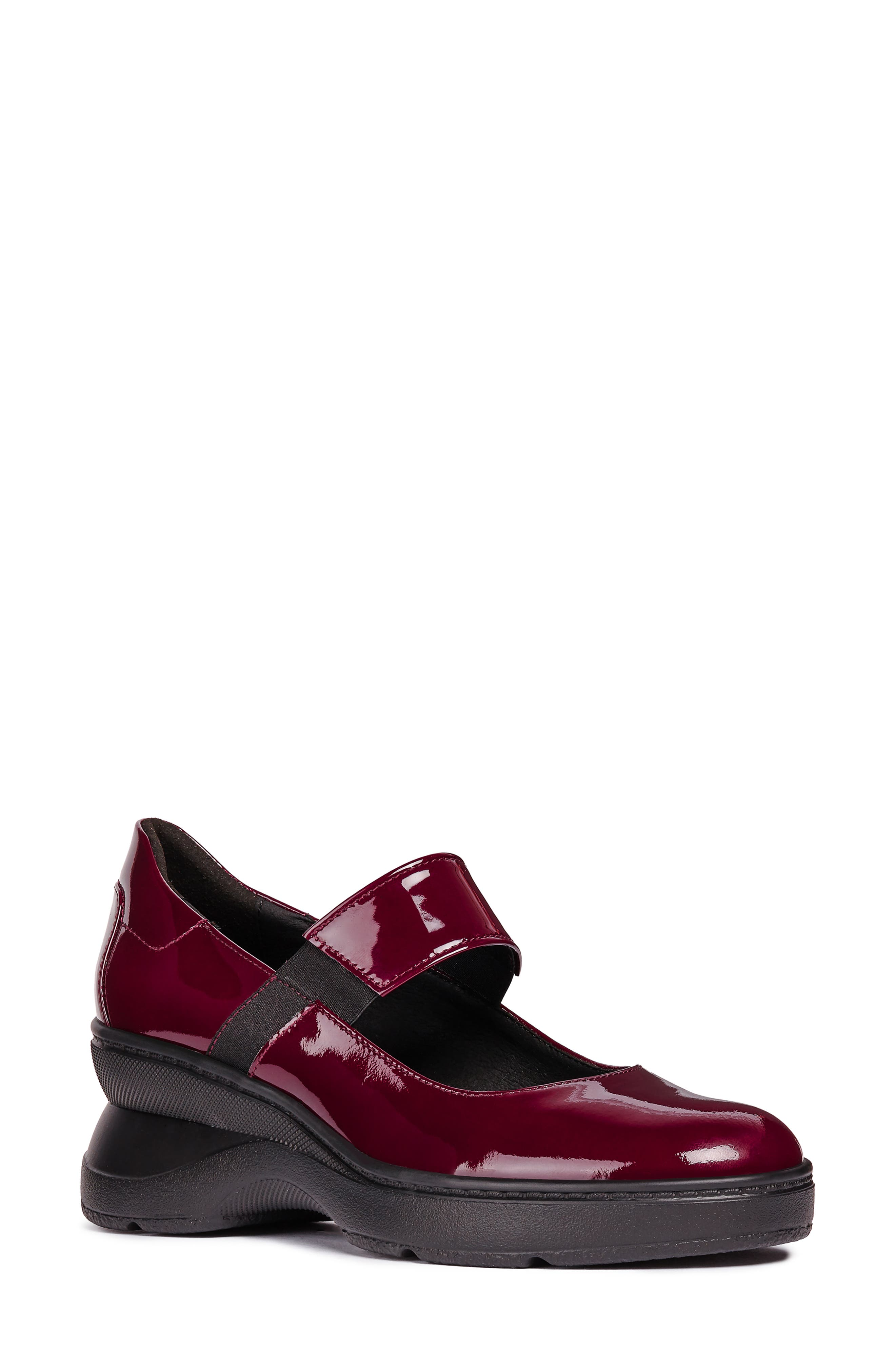 Ascythia Mary Jane Wedge,                             Main thumbnail 1, color,                             BORDEAUX LEATHER