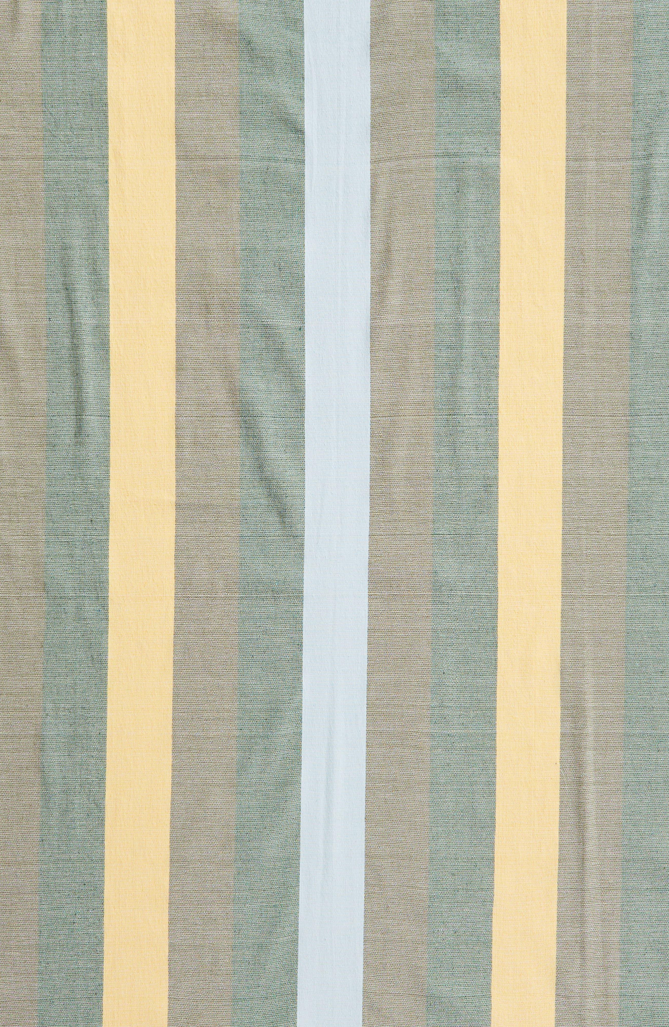 Forest Stripe Woven Cotton Blanket,                             Alternate thumbnail 3, color,                             020