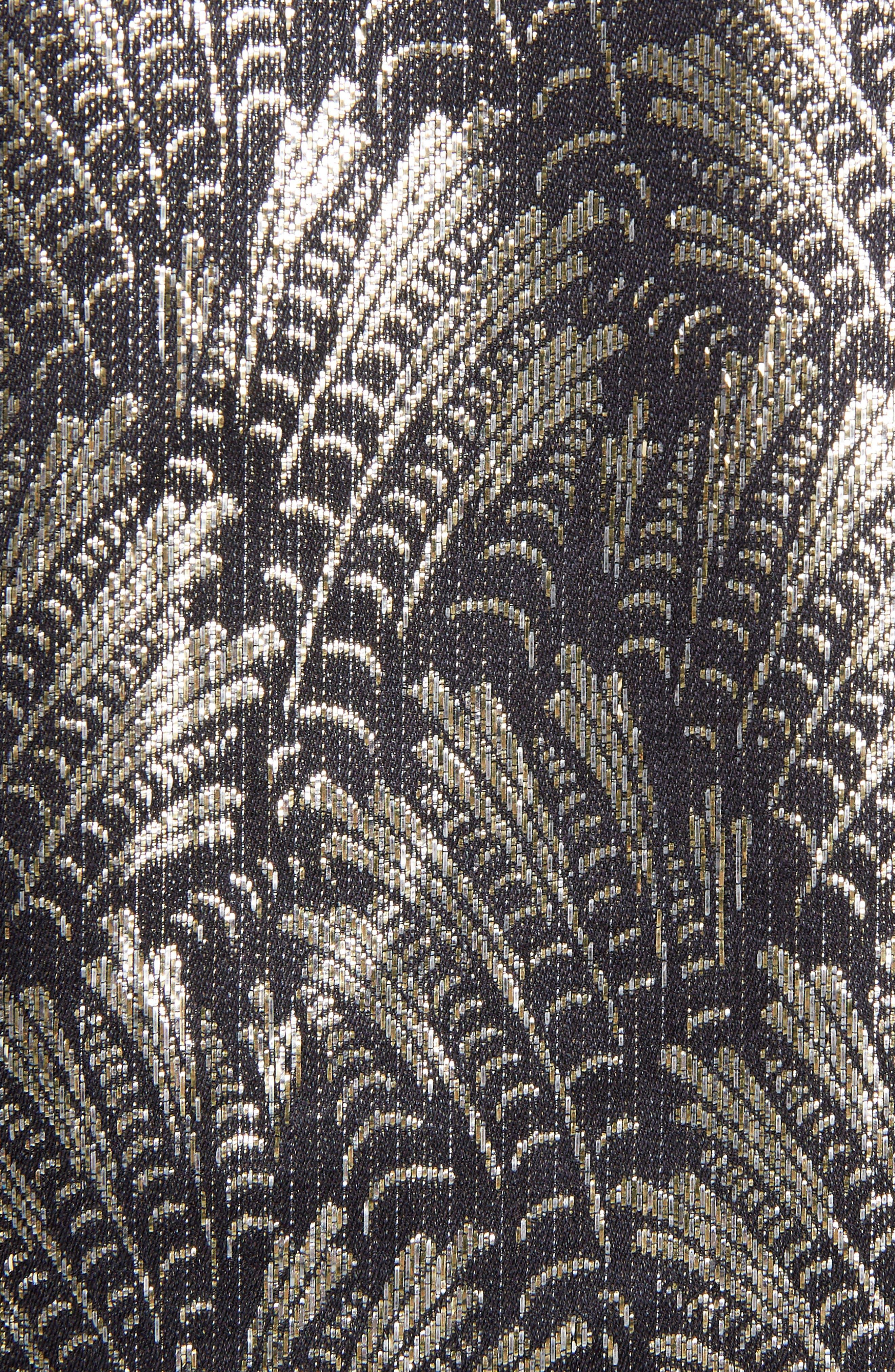 Metallic Jacquard Shift Dress,                             Alternate thumbnail 5, color,                             017
