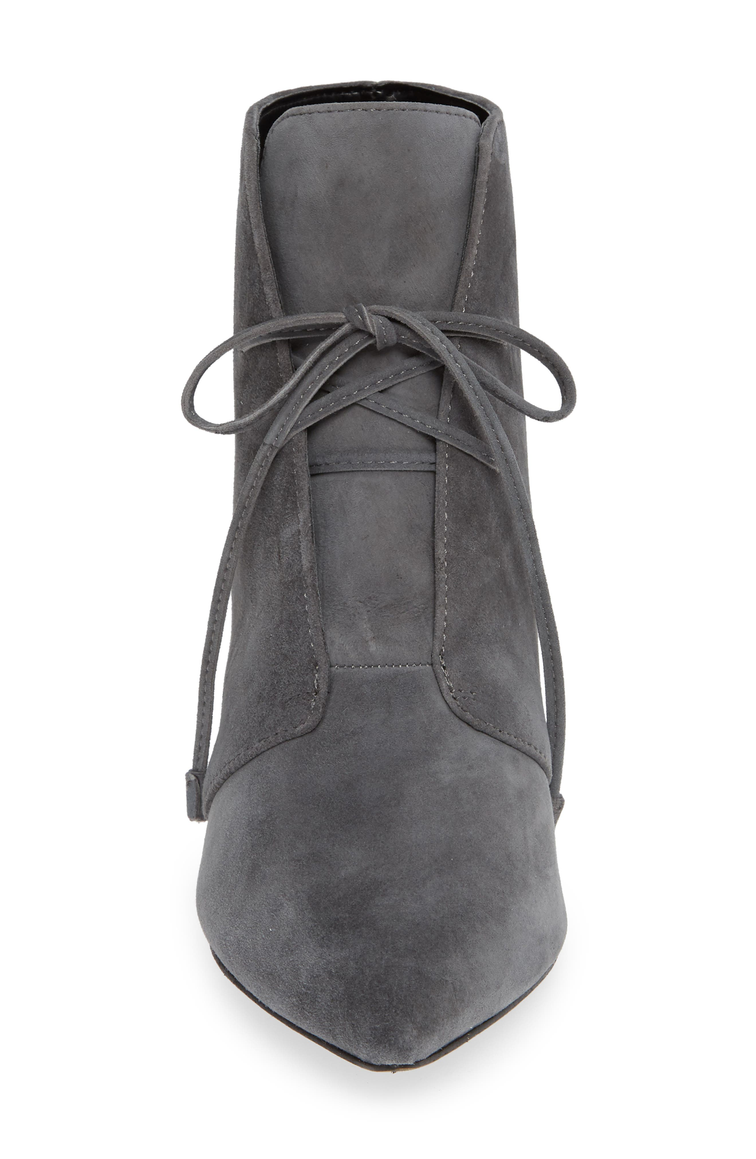 Portis Bootie,                             Alternate thumbnail 4, color,                             CHARCOAL SUEDE