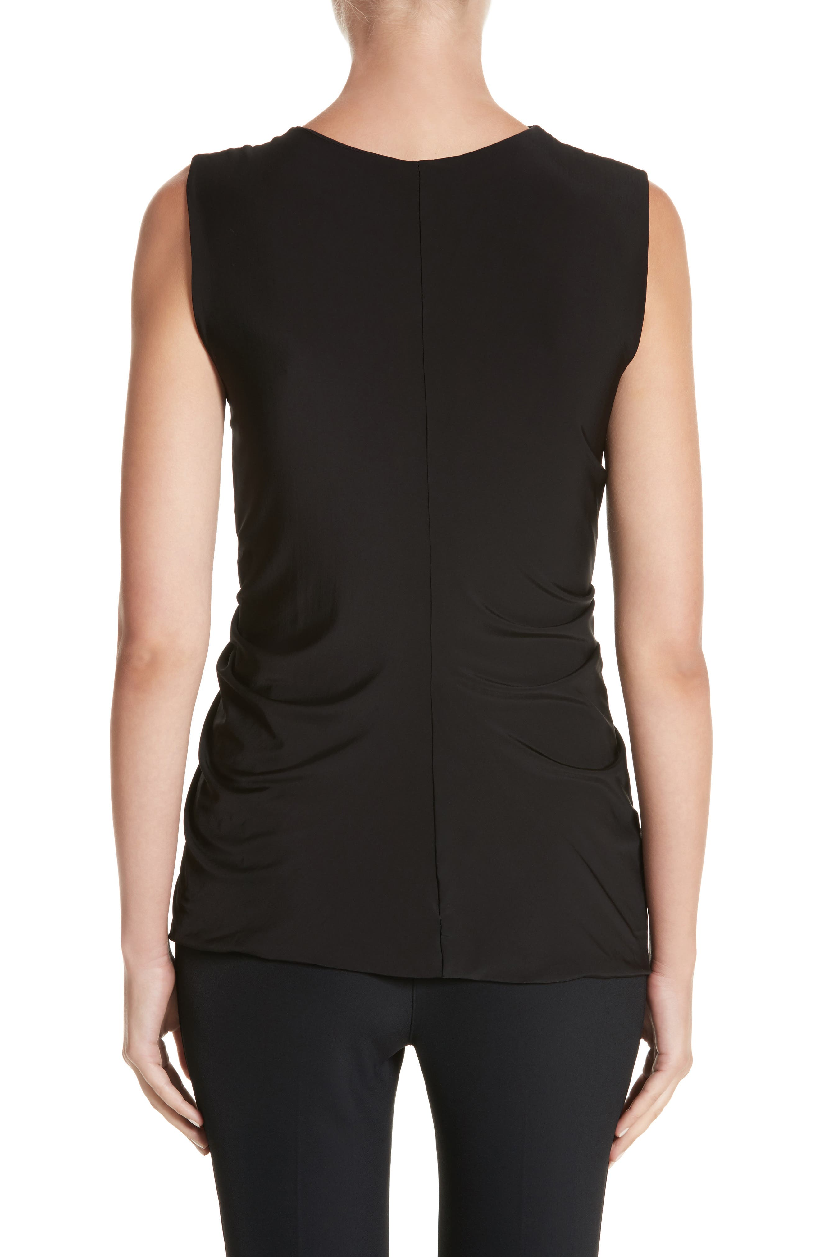Jason Wu Asymmetrical Ruched Jersey Top,                             Alternate thumbnail 2, color,                             001