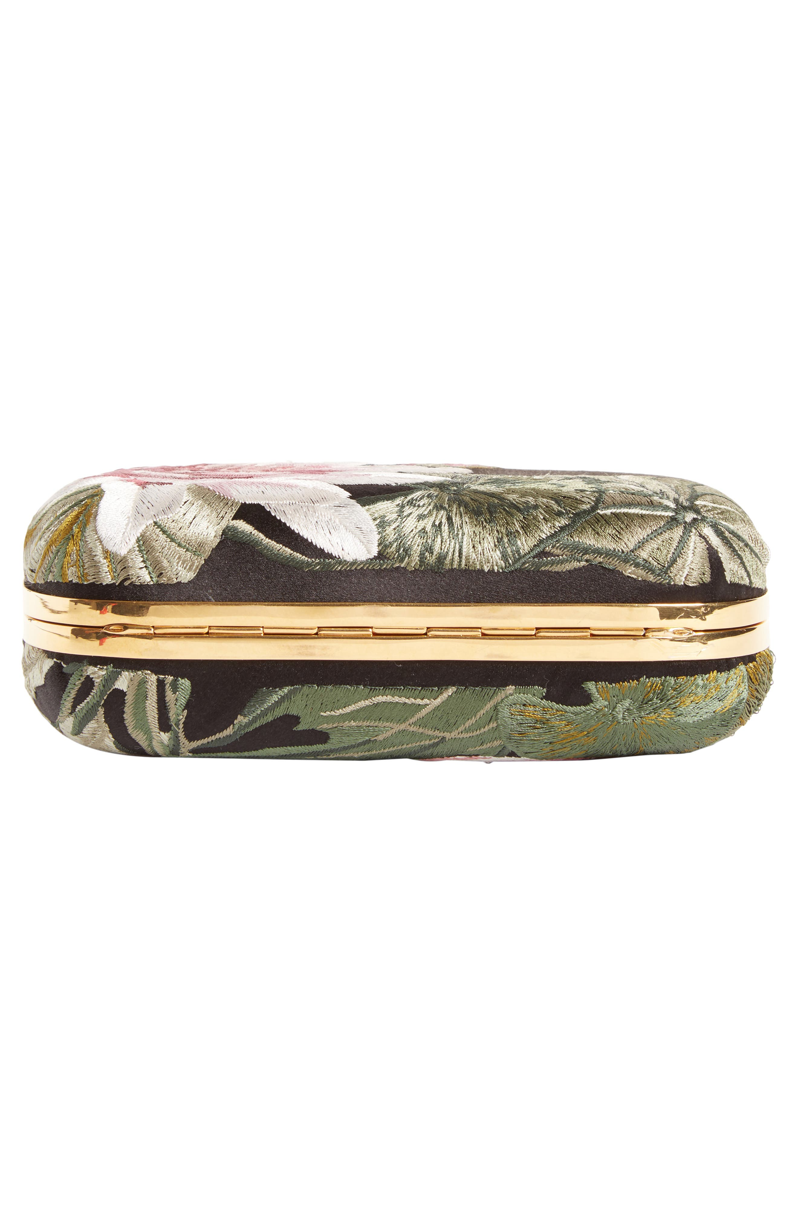 Queen & King Embroidered Satin Clutch,                             Alternate thumbnail 6, color,                             964