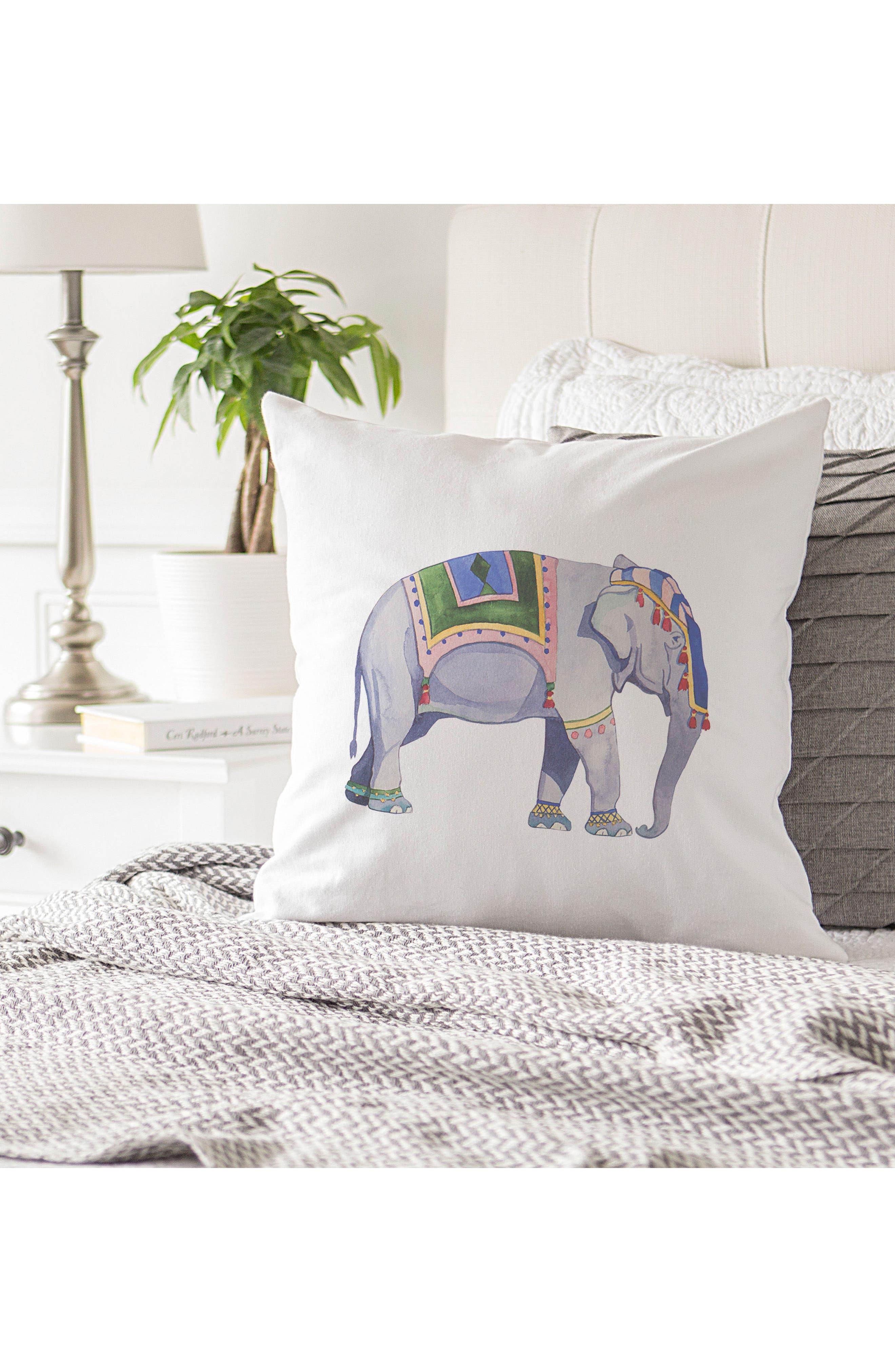 Elephant Accent Pillow,                             Alternate thumbnail 4, color,