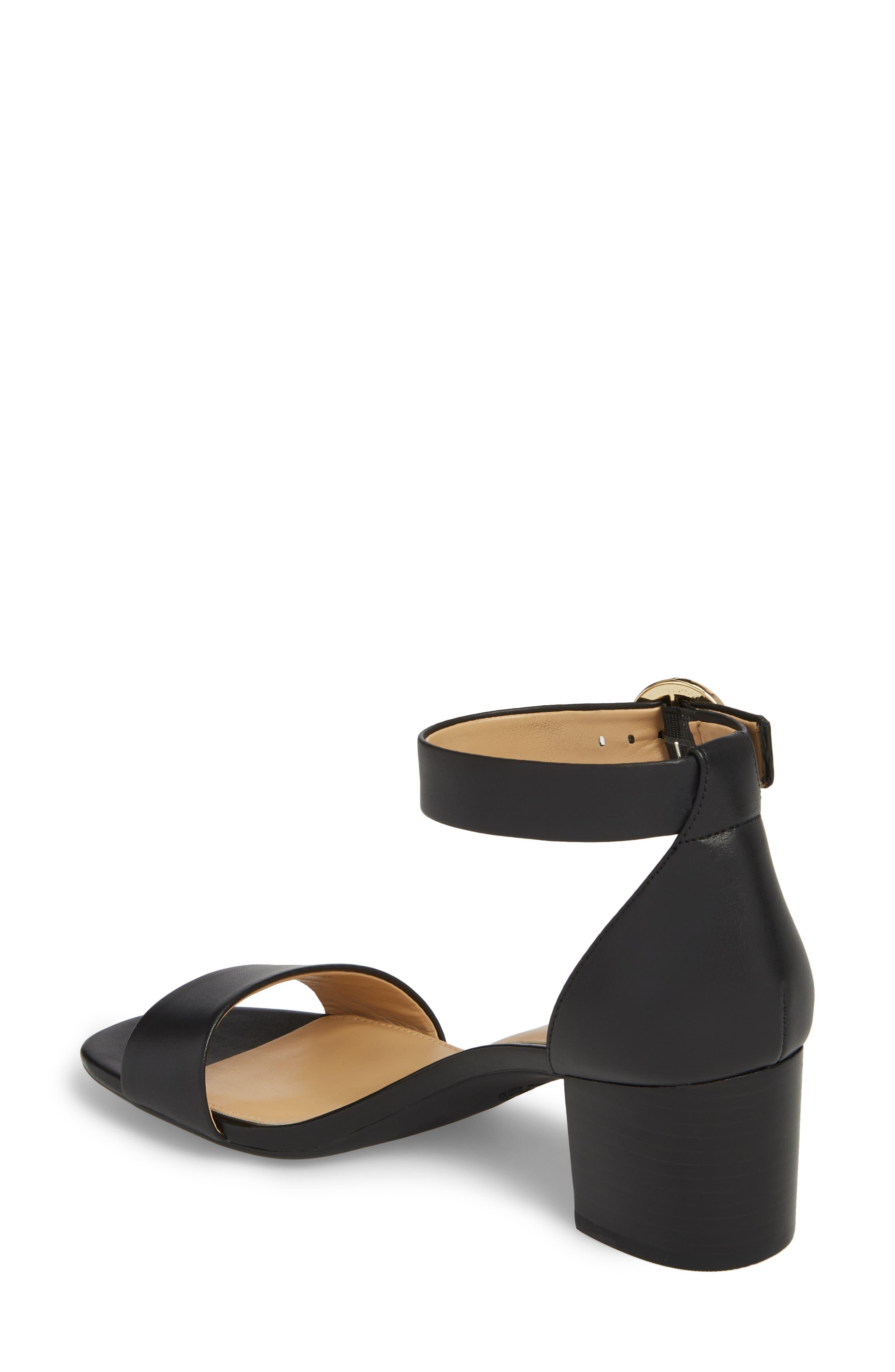 Lena Block Heel Sandal,                             Alternate thumbnail 2, color,                             BLACK