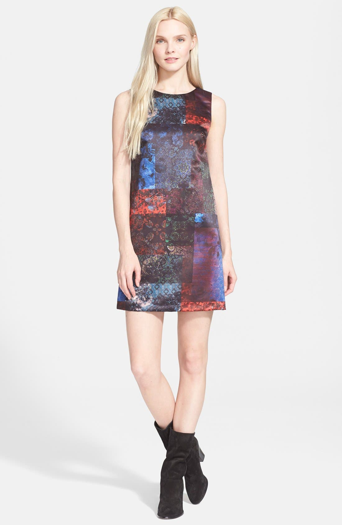 'Clyde' Shift Dress,                             Main thumbnail 1, color,                             602