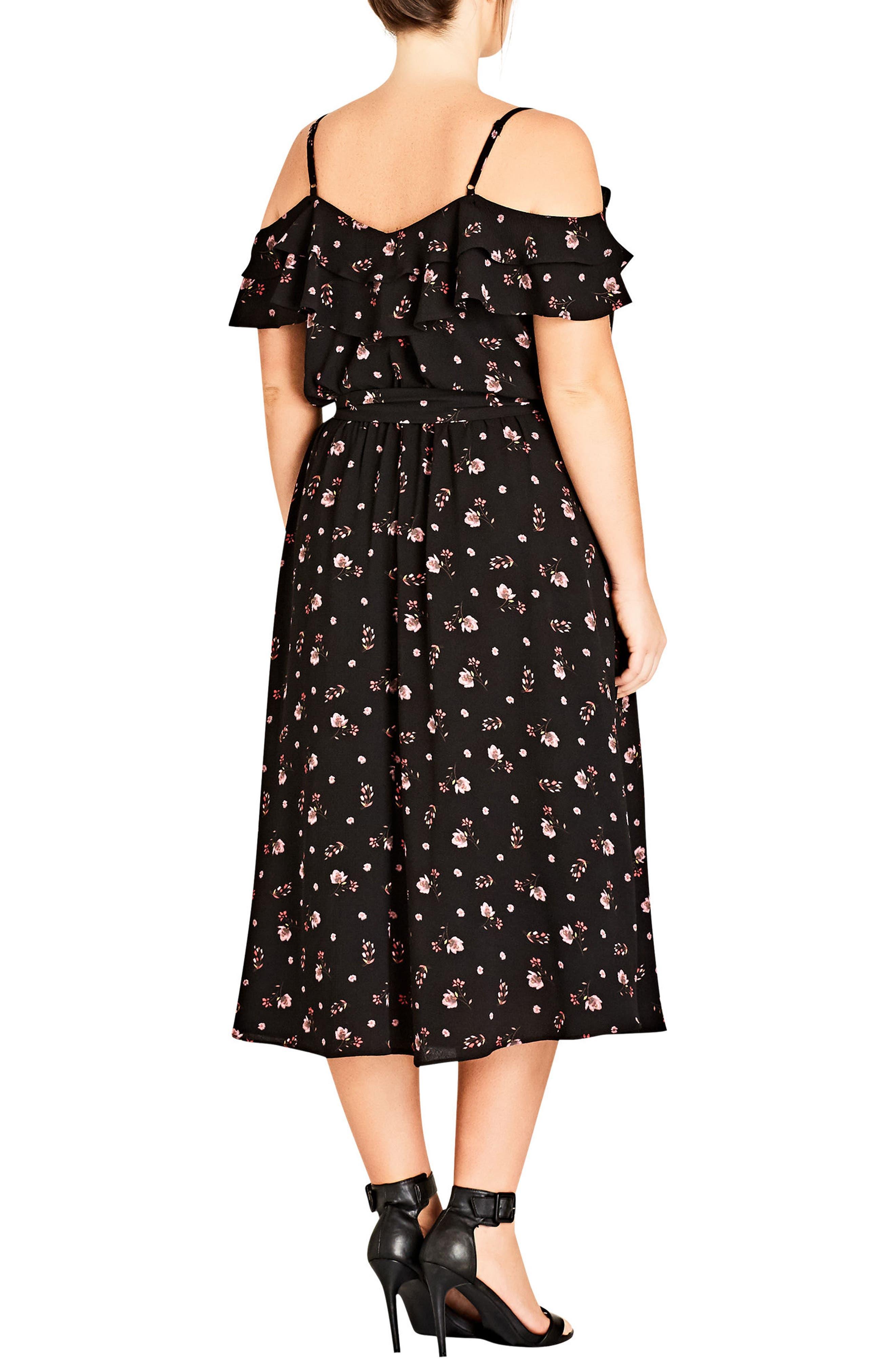 Scattered Floral Dress,                             Alternate thumbnail 2, color,                             001
