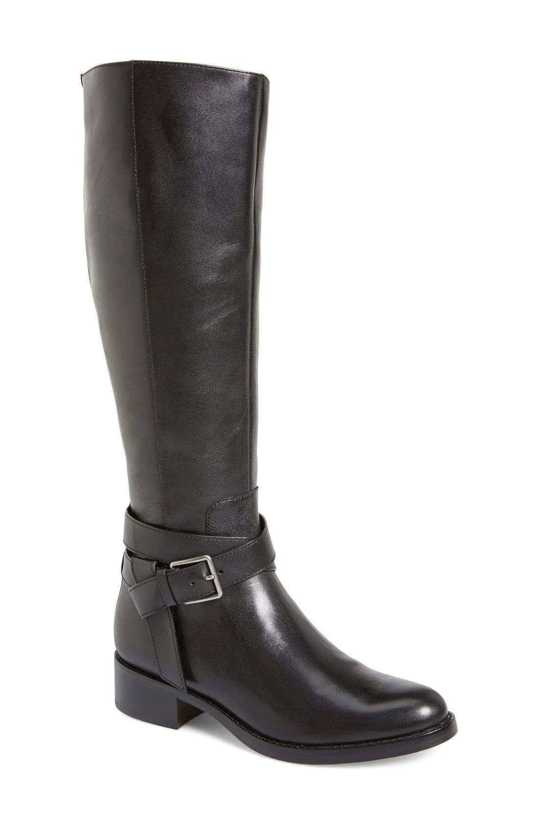 COLE HAAN 'Briarcliff' Riding Boot, Main, color, 001