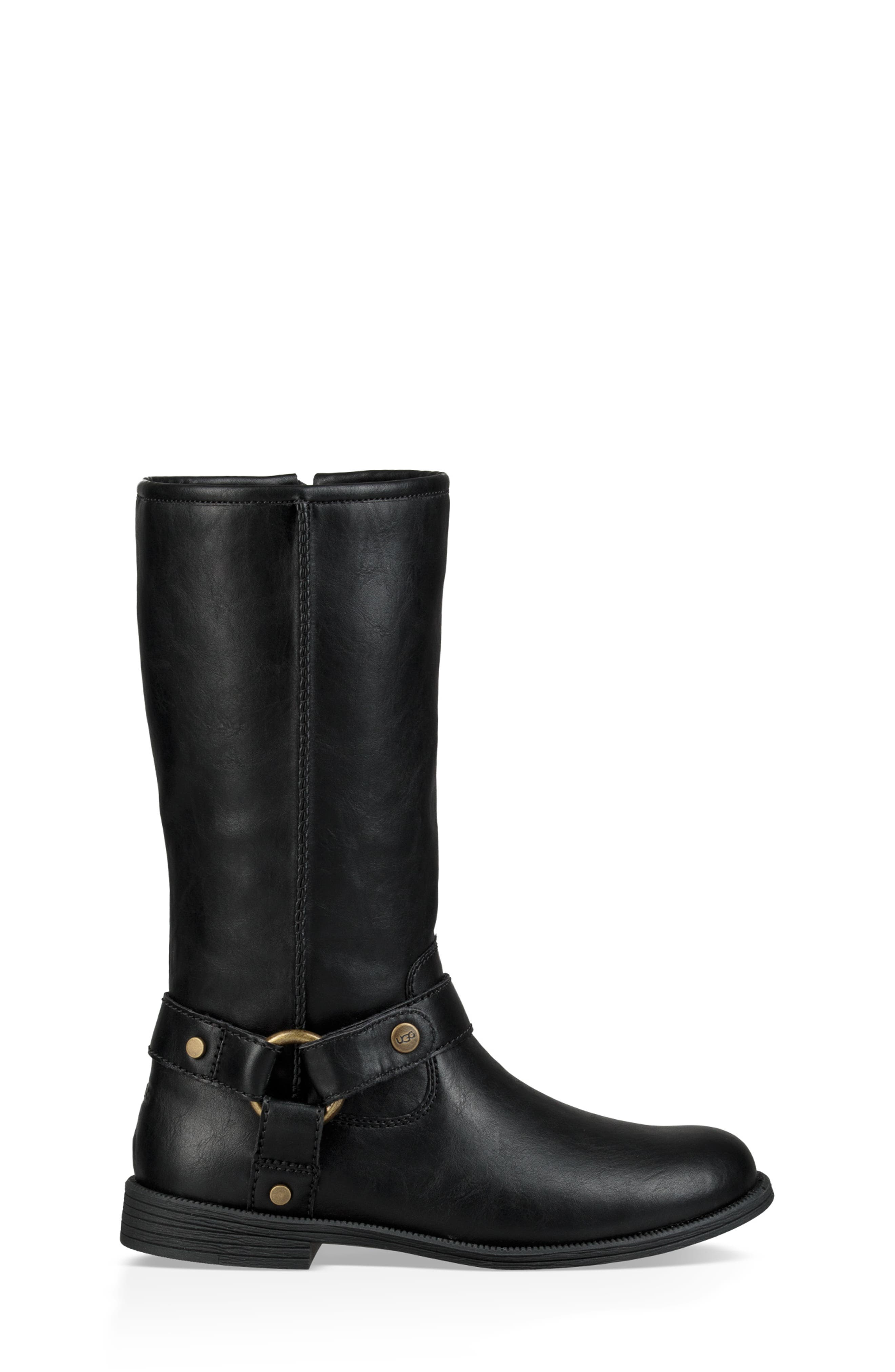 Lili Faux Shearling Boot,                             Alternate thumbnail 6, color,                             BLACK