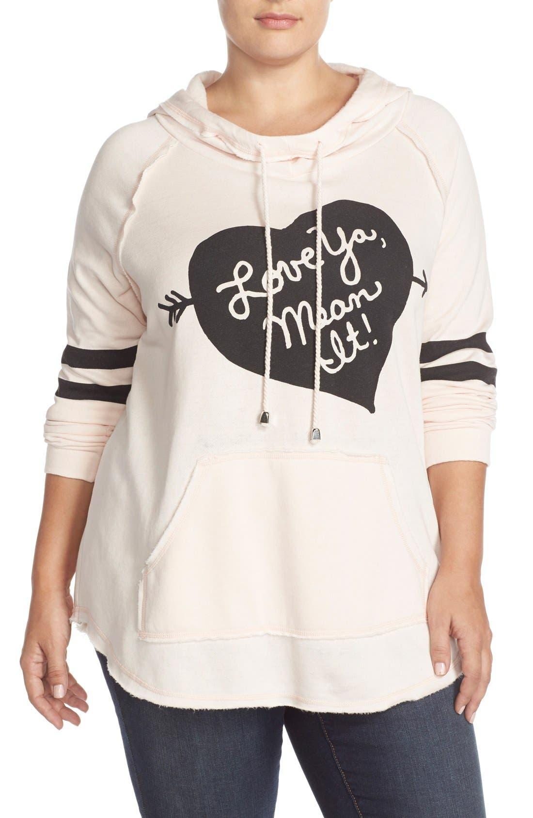 'Love Ya, Mean It' Hooded Sweatshirt,                             Main thumbnail 2, color,