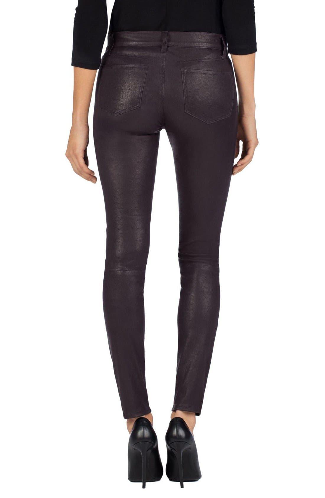'8001' Lambskin Leather Pants,                             Alternate thumbnail 39, color,
