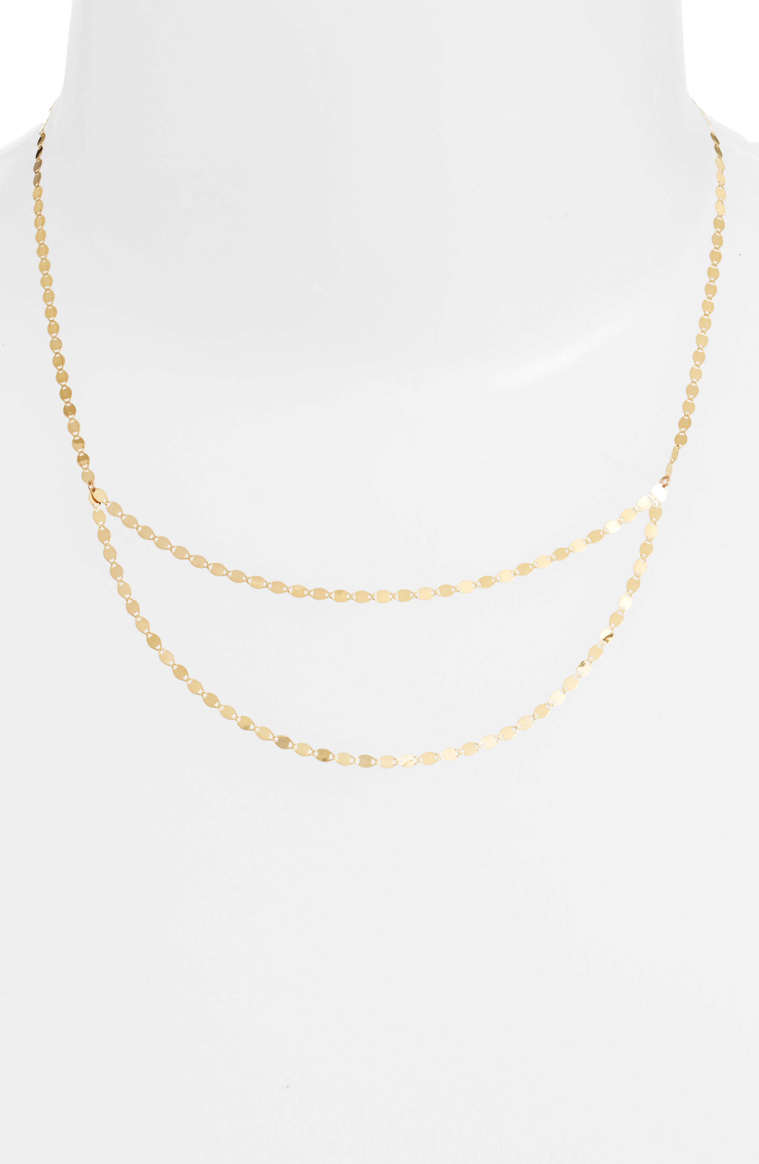 Blake Double Layer Necklace,                             Alternate thumbnail 3, color,                             YELLOW GOLD