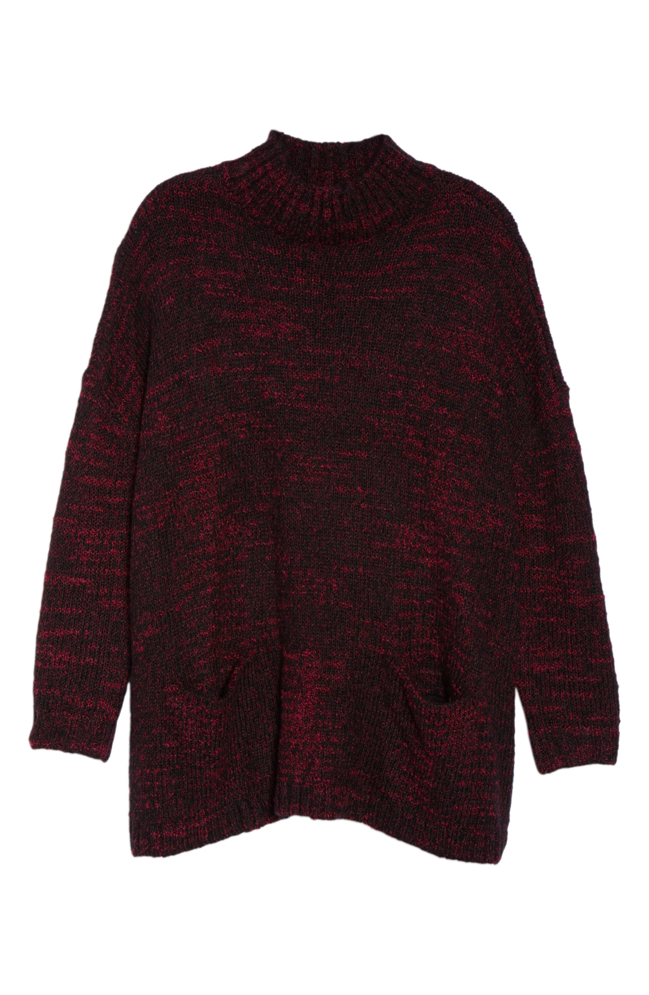 Mock Neck Knit Sweater,                             Alternate thumbnail 18, color,