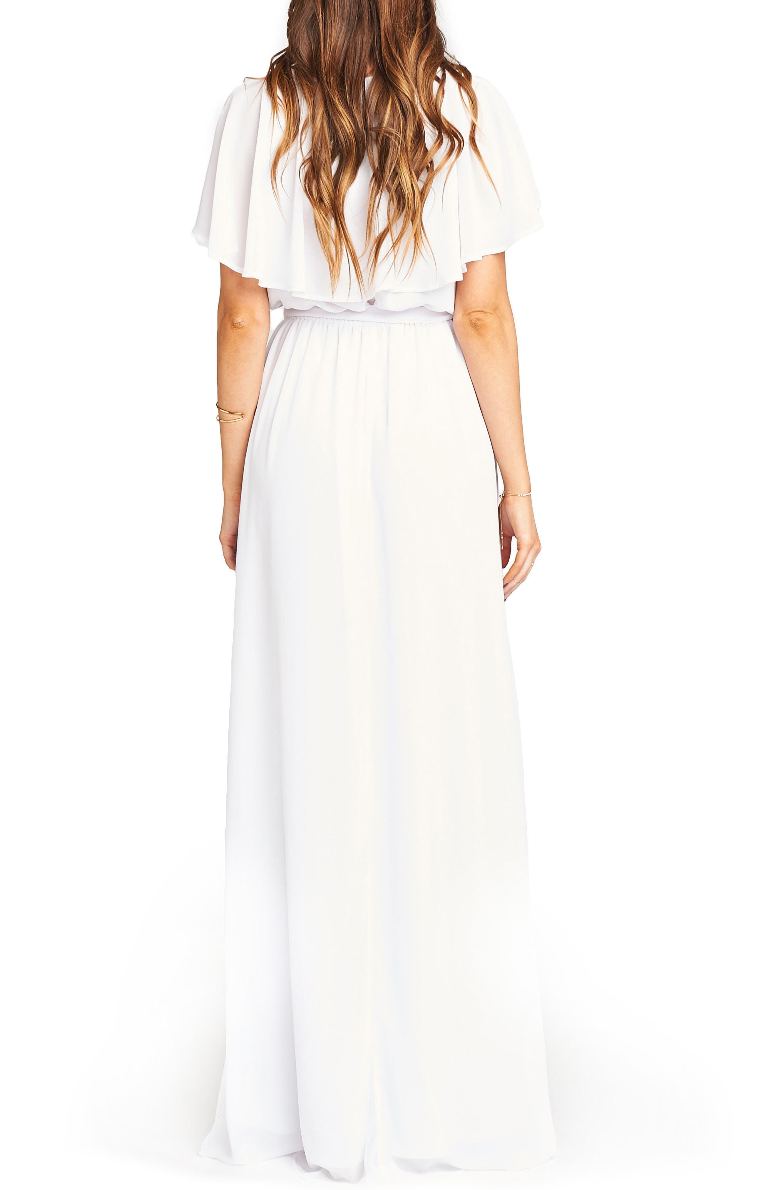 Audrey Ruffle Wrap Front Gown,                             Alternate thumbnail 2, color,                             120
