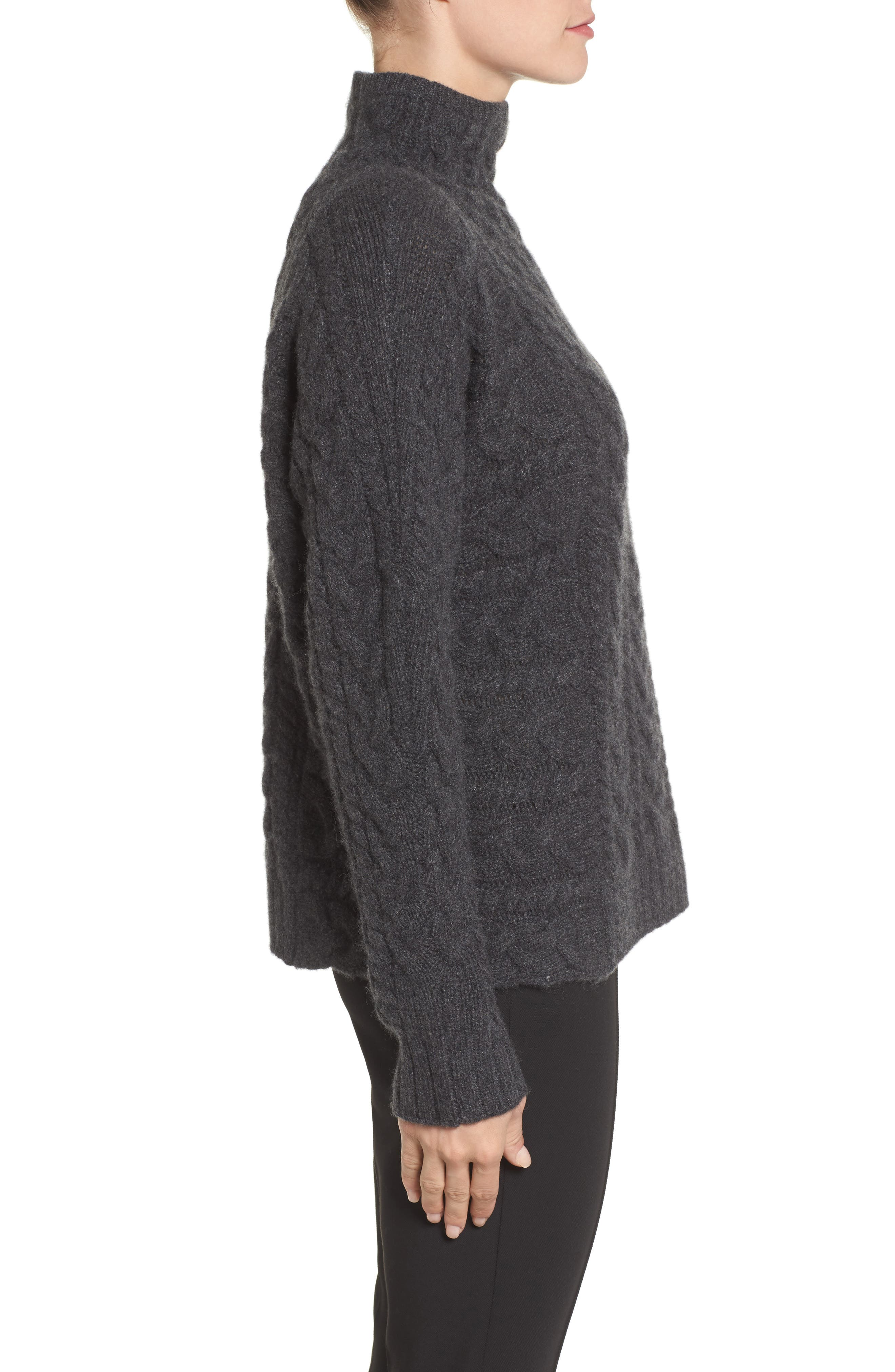 Cashmere Cable Sweater,                             Alternate thumbnail 3, color,                             021