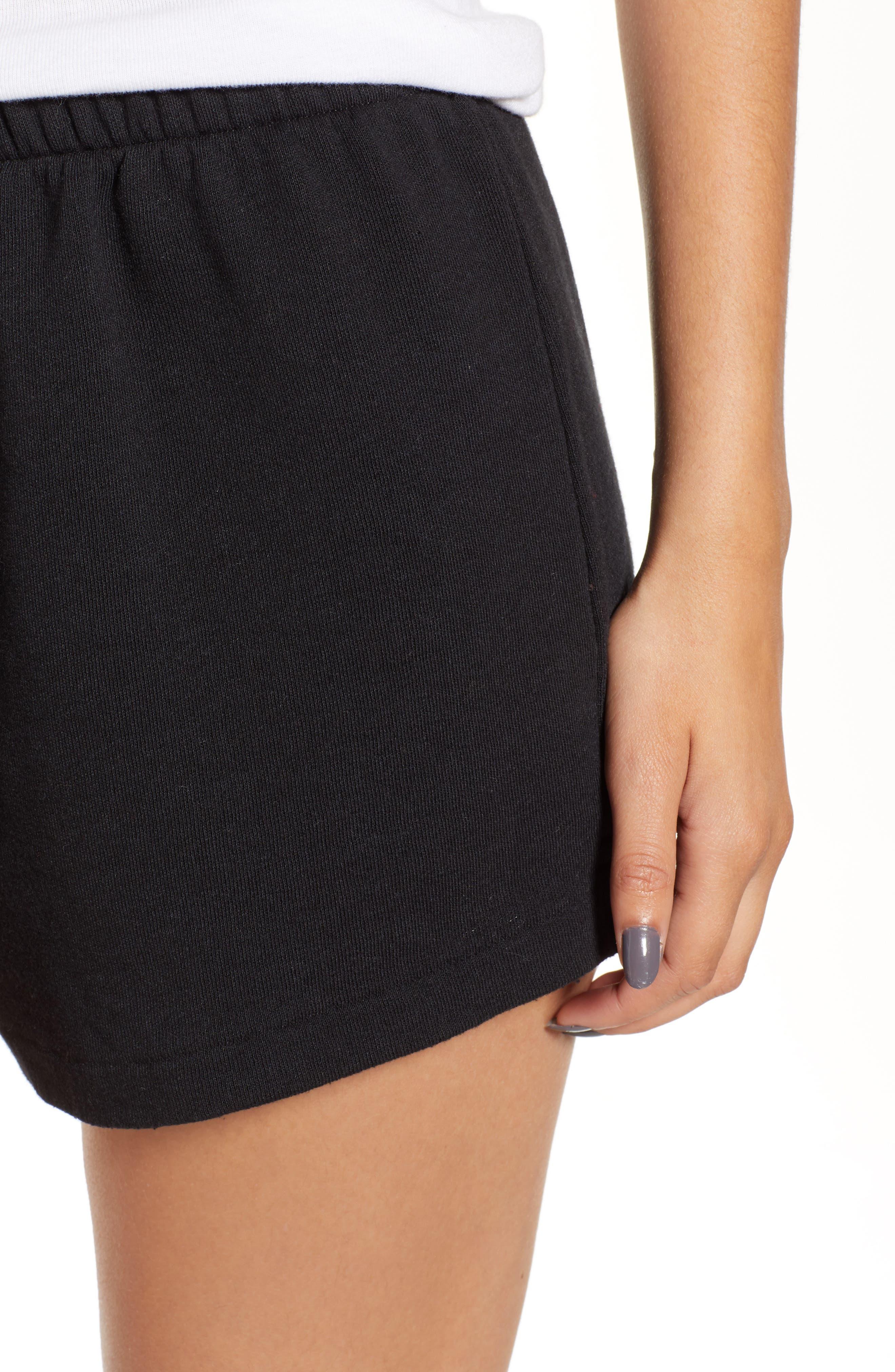 Golden Shorts,                             Alternate thumbnail 4, color,                             JET BLACK