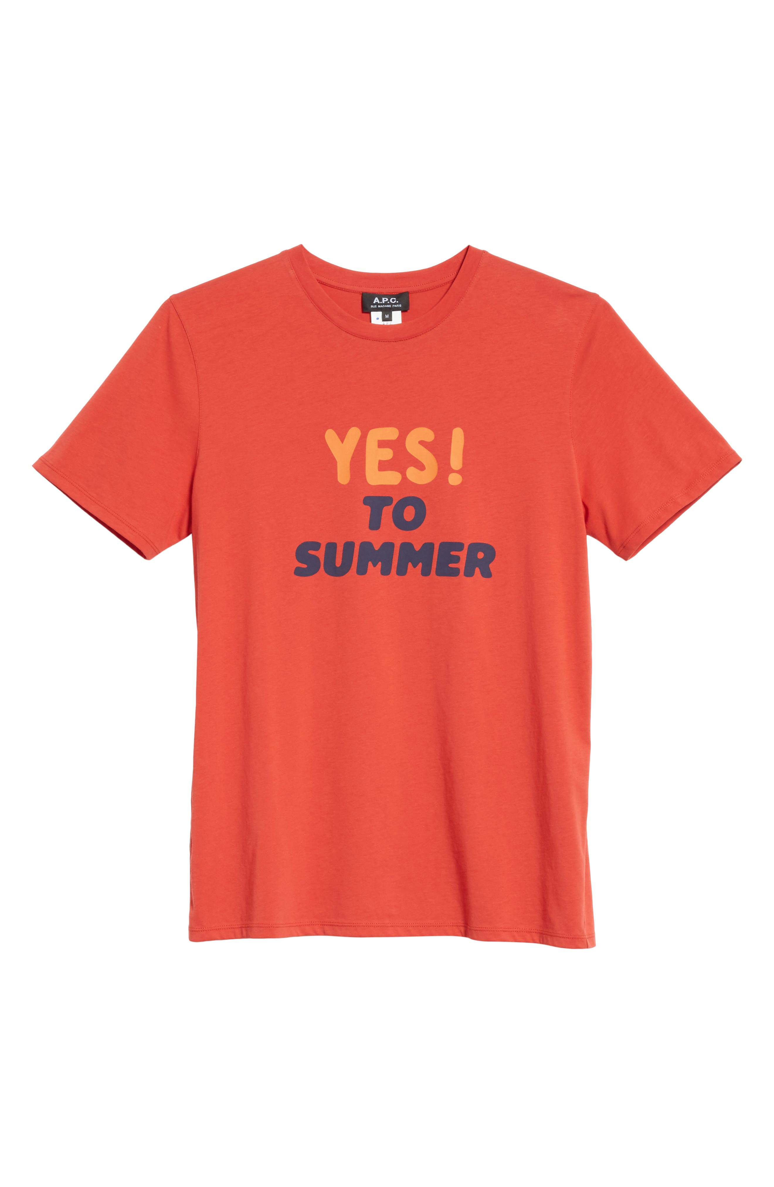 Yes! To Summer Graphic T-Shirt,                             Alternate thumbnail 6, color,                             ROUGE