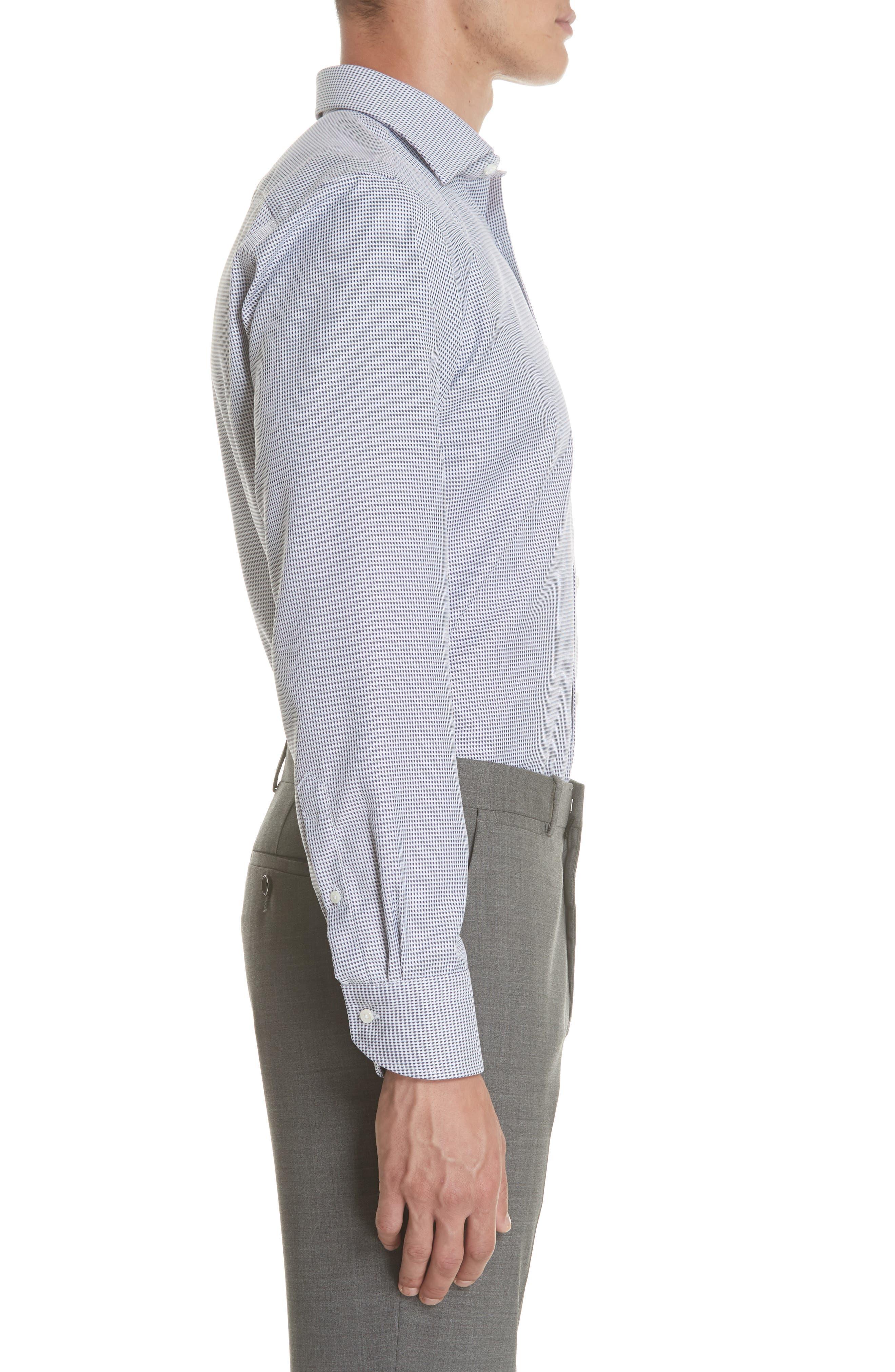 Regular Fit Print Dress Shirt,                             Alternate thumbnail 4, color,                             401
