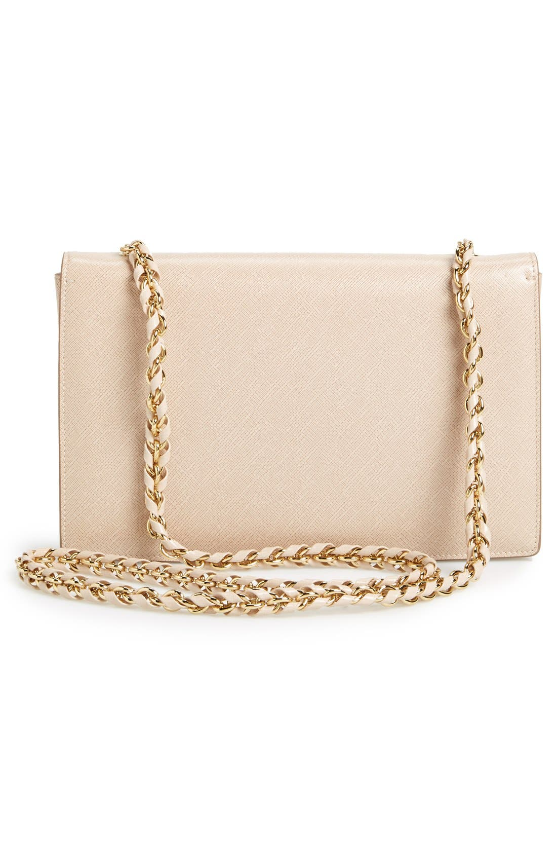Saffiano Leather Shoulder Bag,                             Alternate thumbnail 4, color,                             250