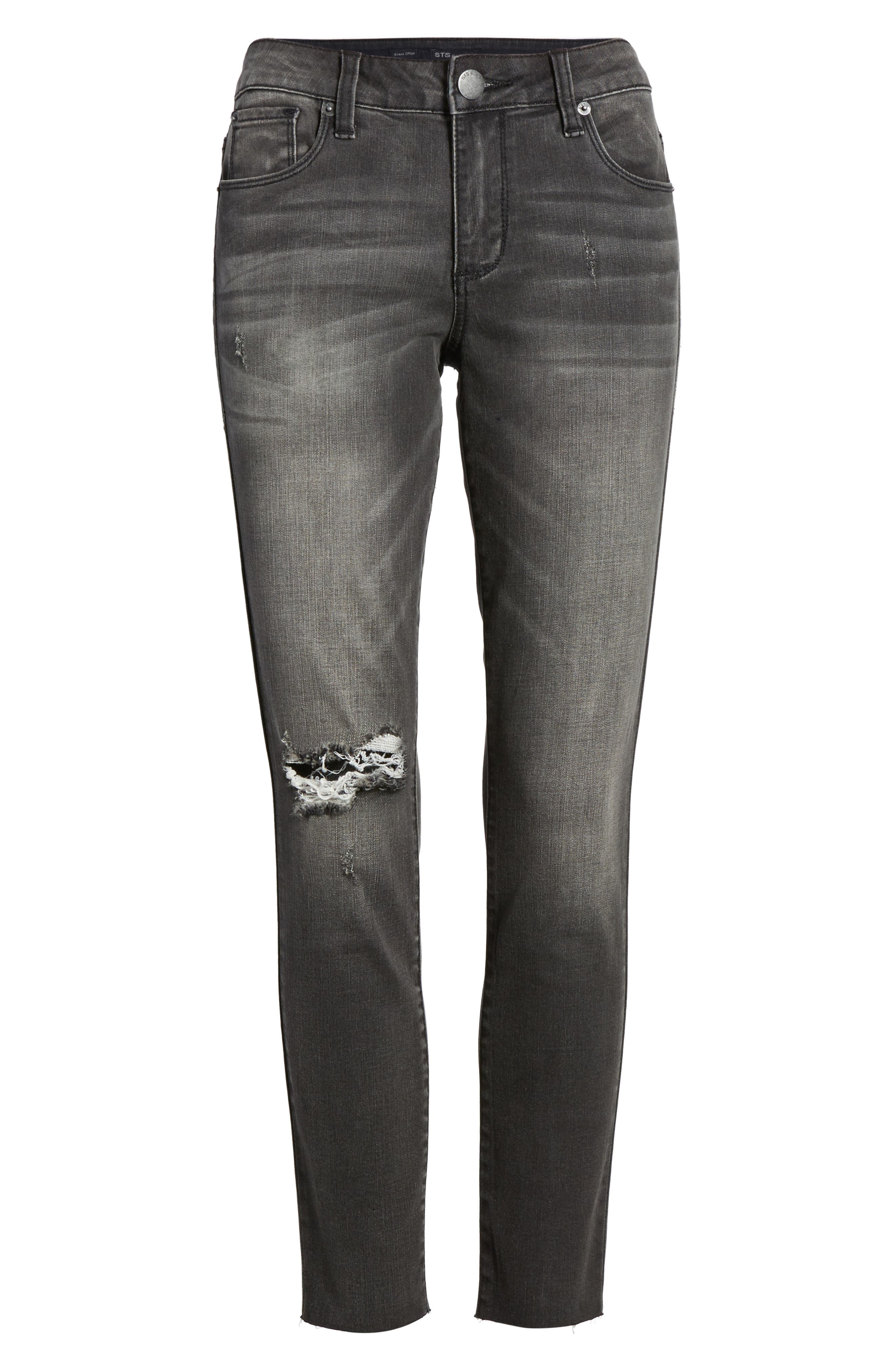 STS Emma Ripped Crop Skinny Jeans,                             Alternate thumbnail 6, color,                             001