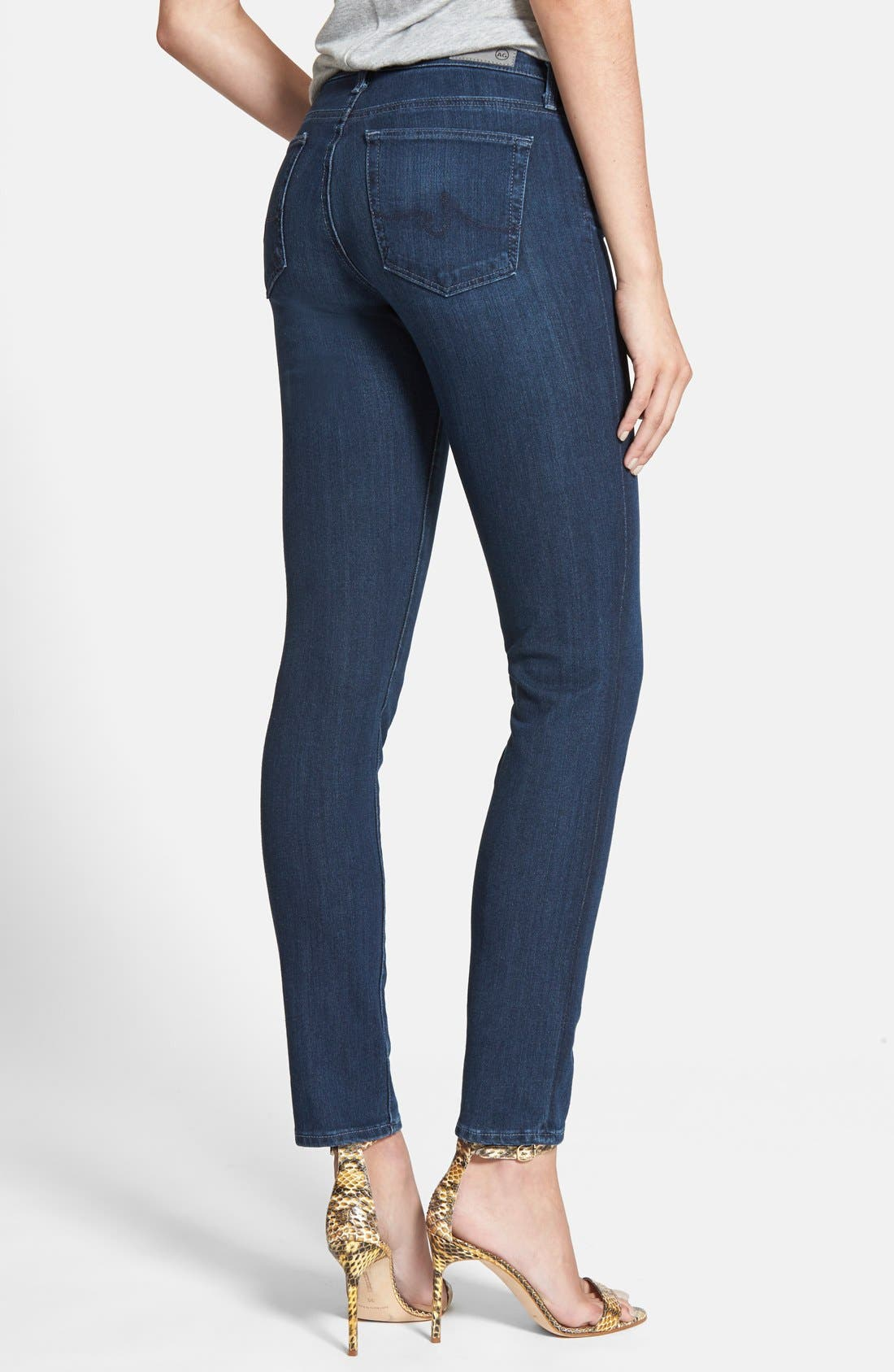'Contour 360 - The Prima' Cigarette Leg Skinny Jeans,                             Alternate thumbnail 4, color,                             400