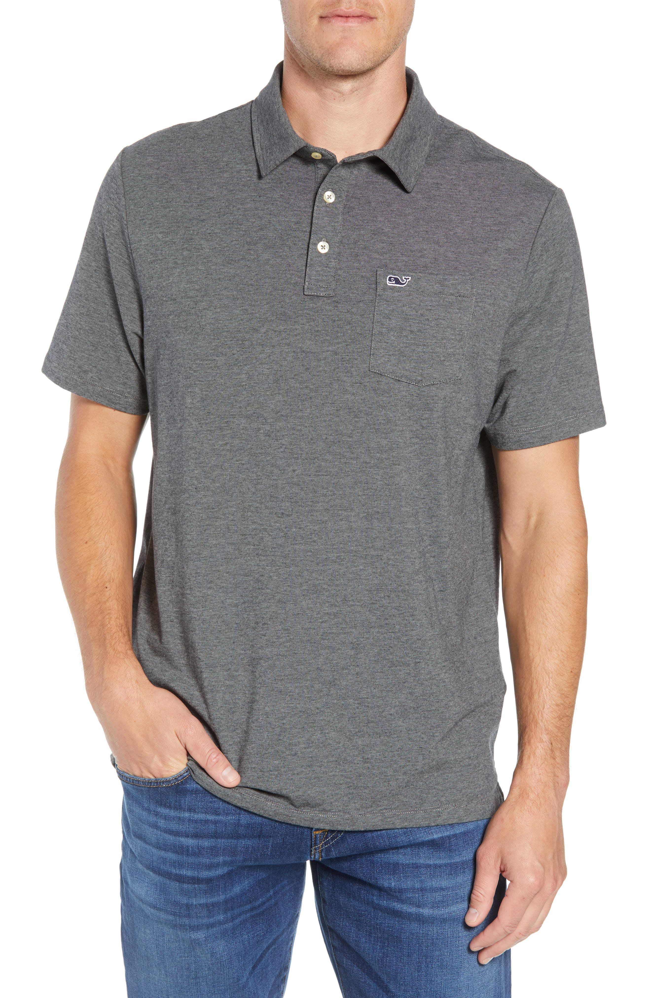 Edgartown Polo Shirt,                             Main thumbnail 1, color,                             CHARCOAL