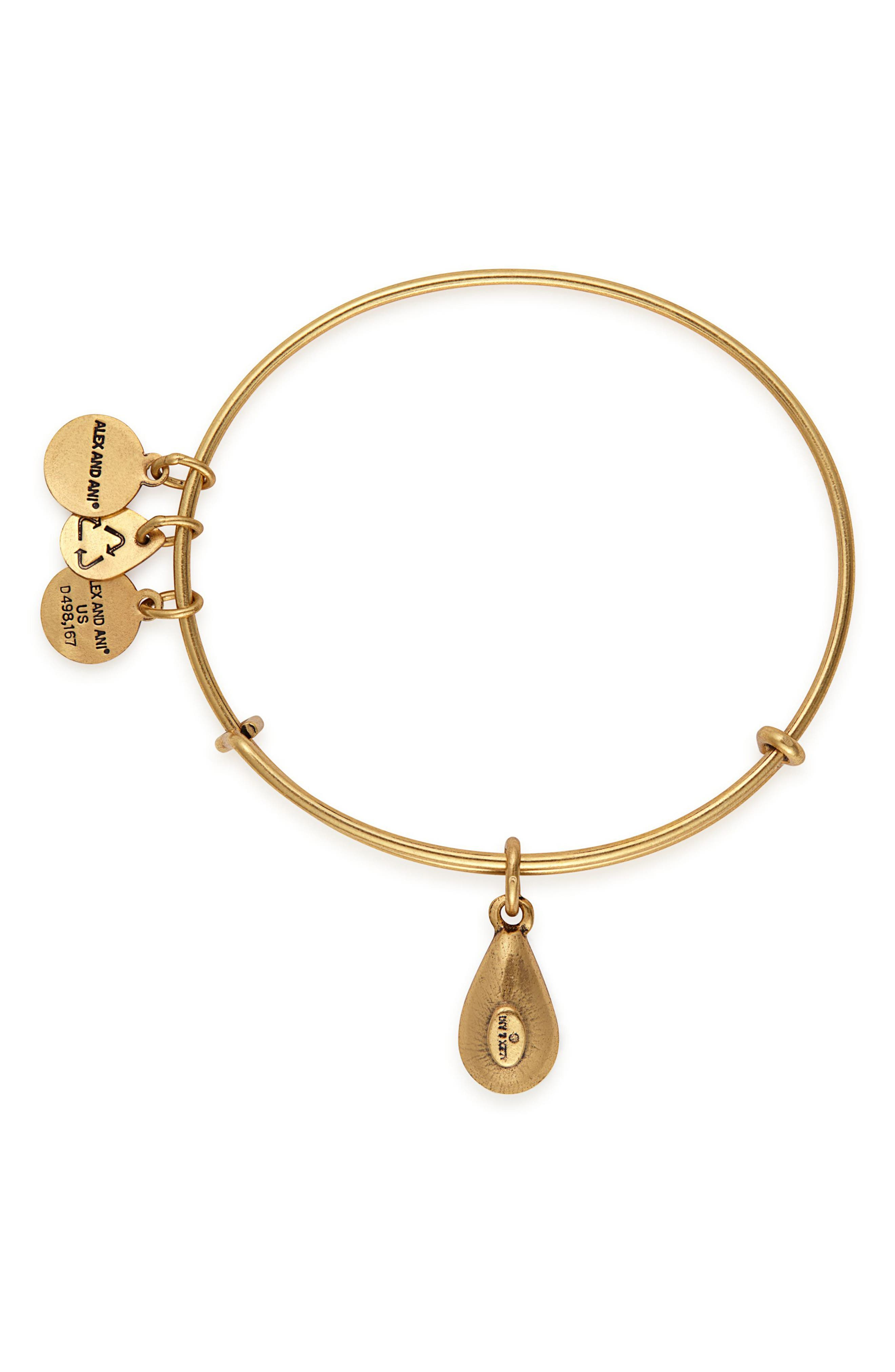 ALEX AND ANI,                             Birthstone Expandable Wire Bangle with Swarovski Crystal,                             Alternate thumbnail 2, color,                             100