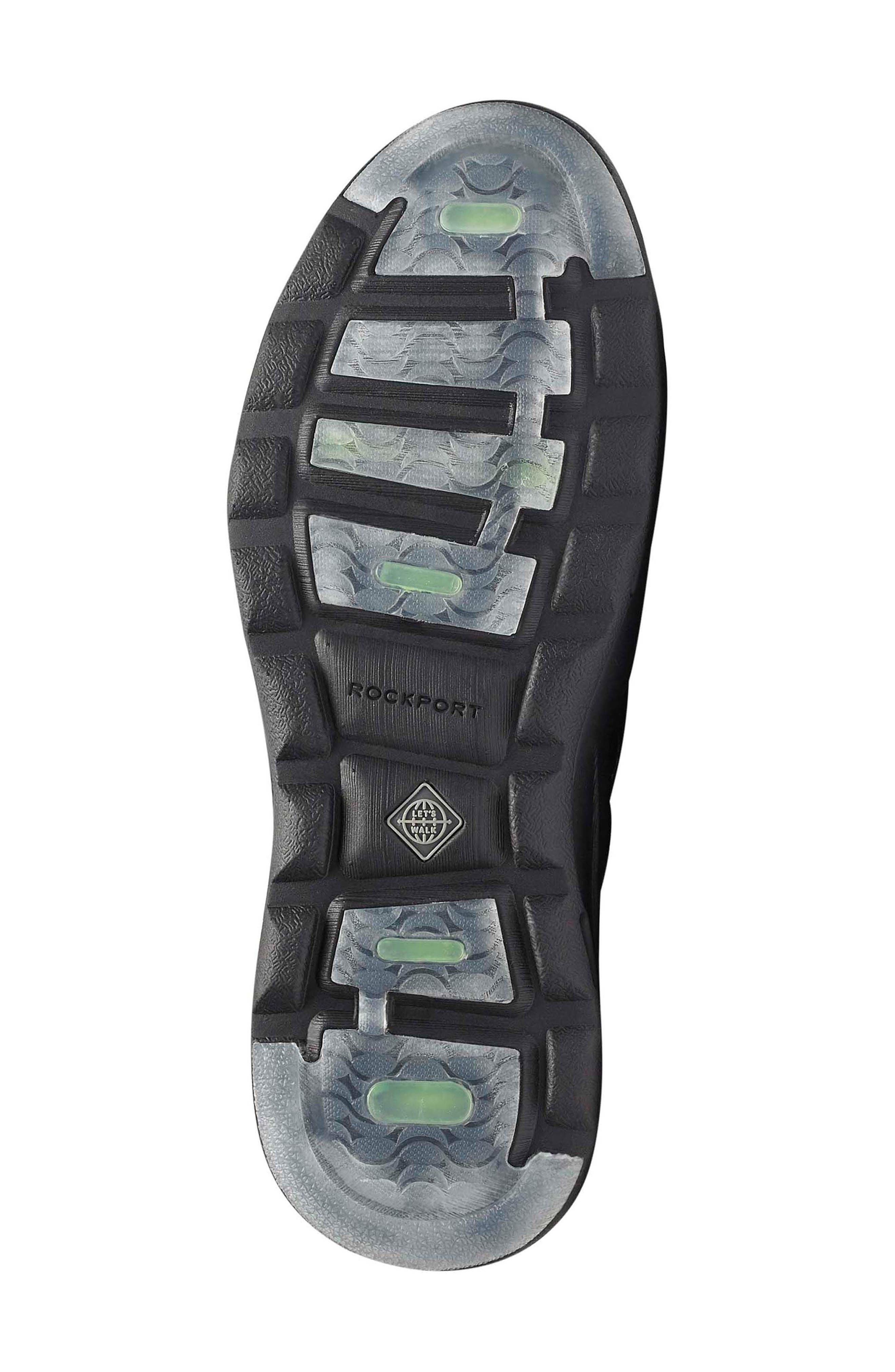ROCKPORT,                             Let's Walk<sup>®</sup> Ubal Sneaker,                             Alternate thumbnail 6, color,                             BLACK/ BLACK LEATHER