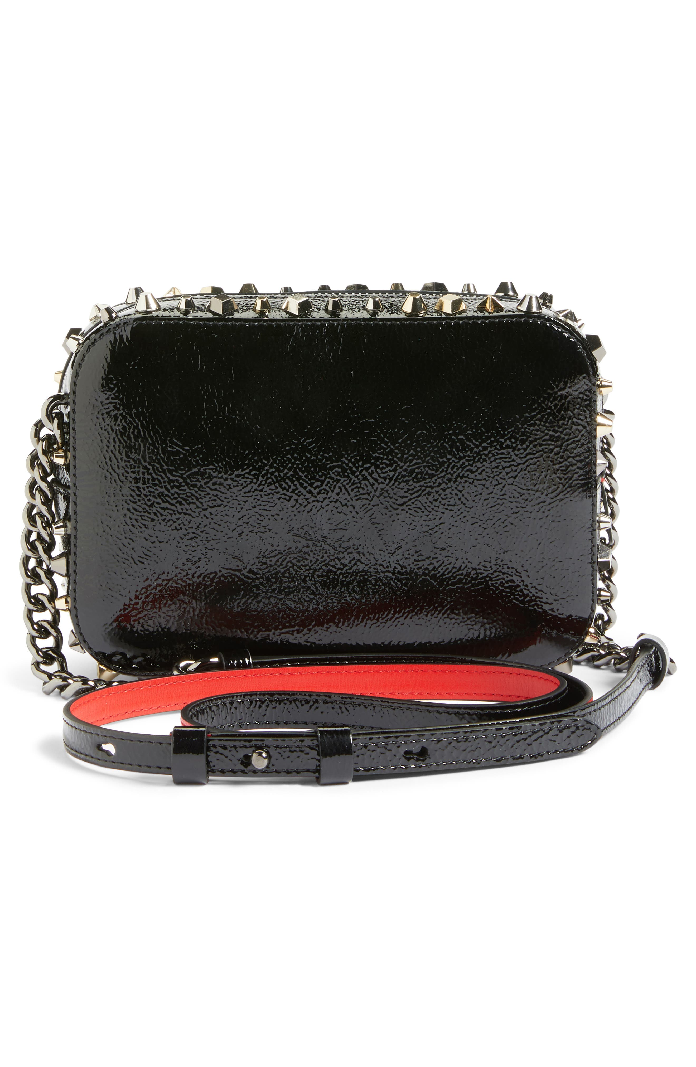 Mini Rubylou Patent Leather Crossbody Bag,                             Alternate thumbnail 3, color,                             013