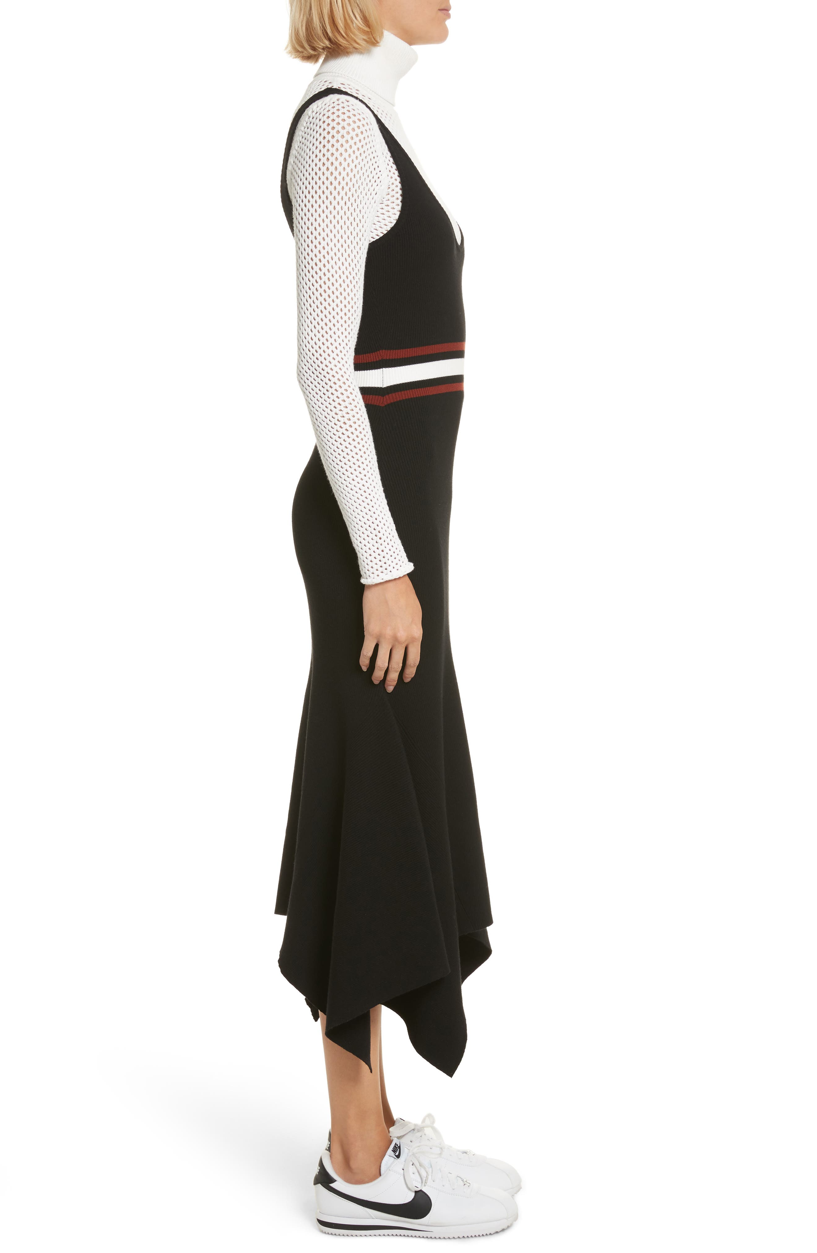 Anders Rib Knit Dress,                             Alternate thumbnail 3, color,                             002