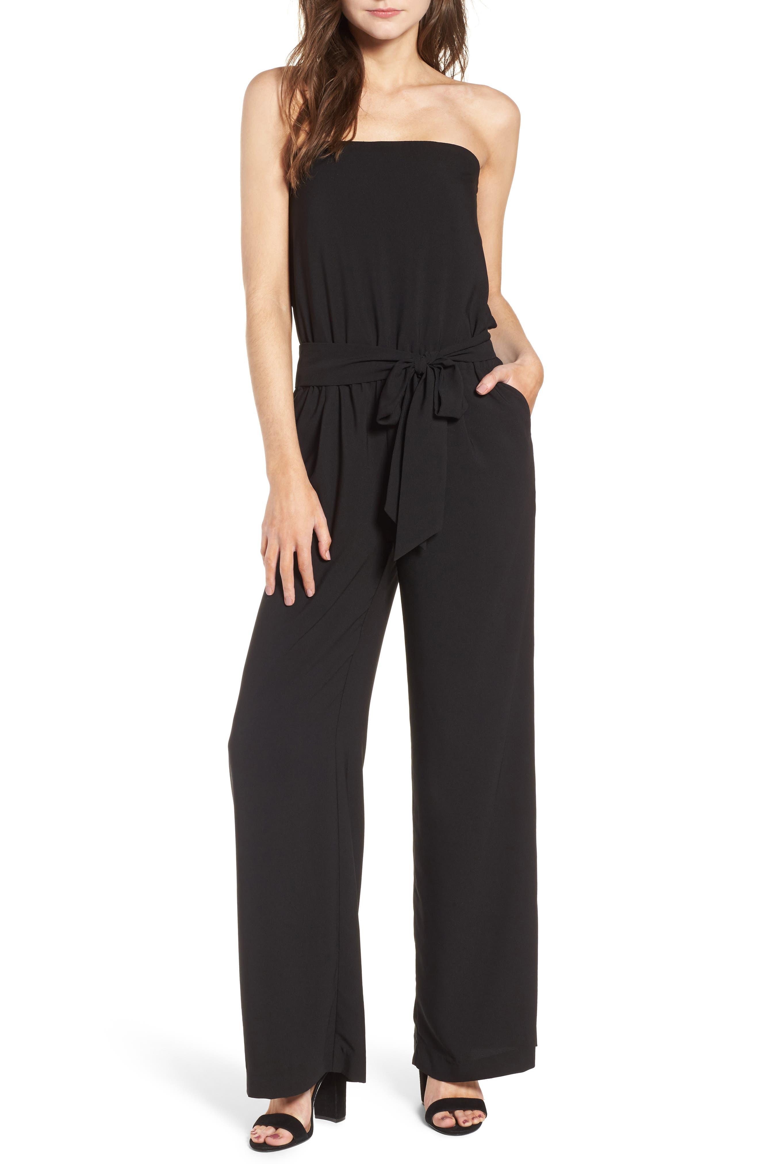 Strapless Jumpsuit,                         Main,                         color, 001