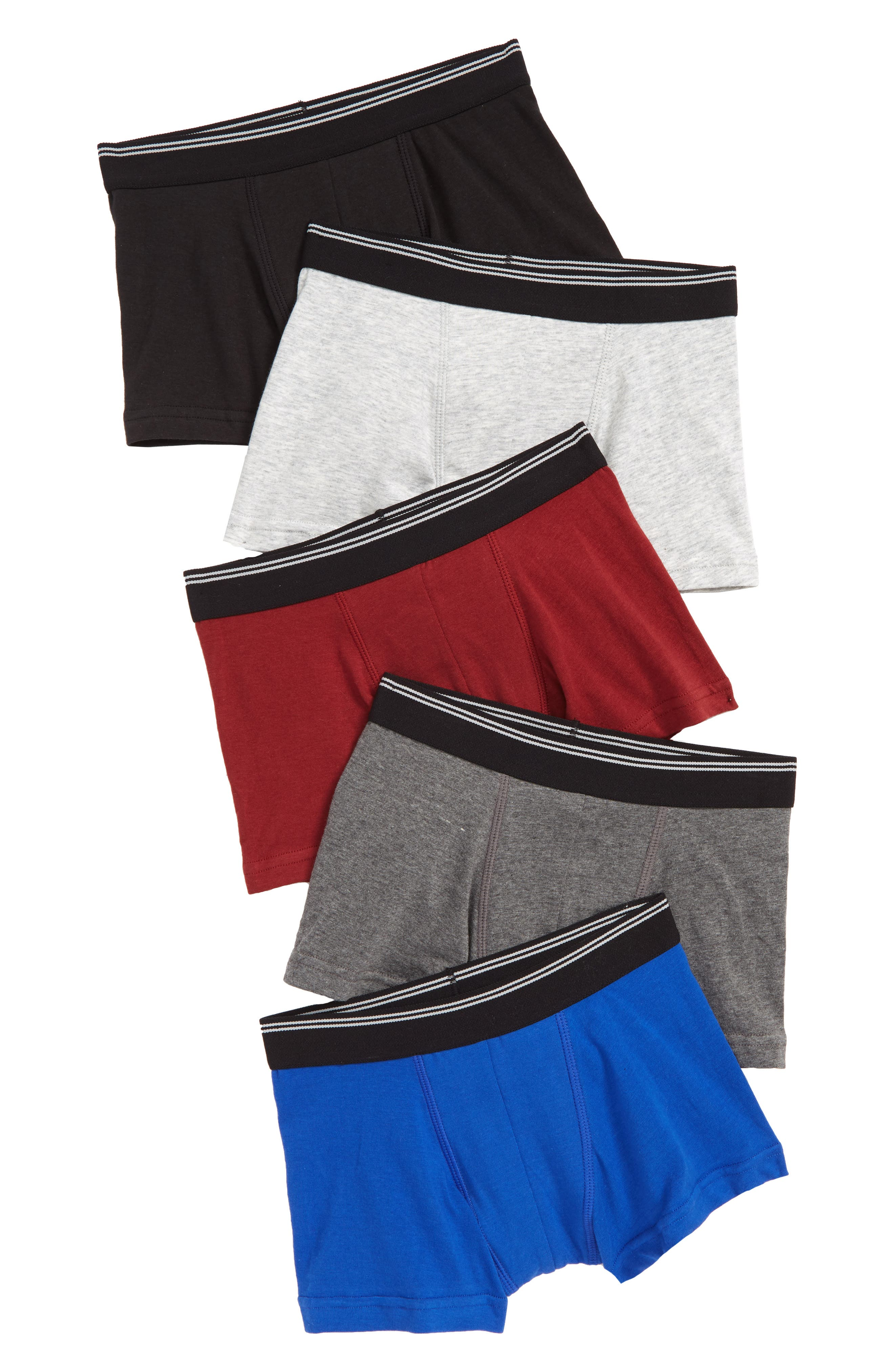 5-Pack Trunks,                             Main thumbnail 1, color,                             SOLID PACK