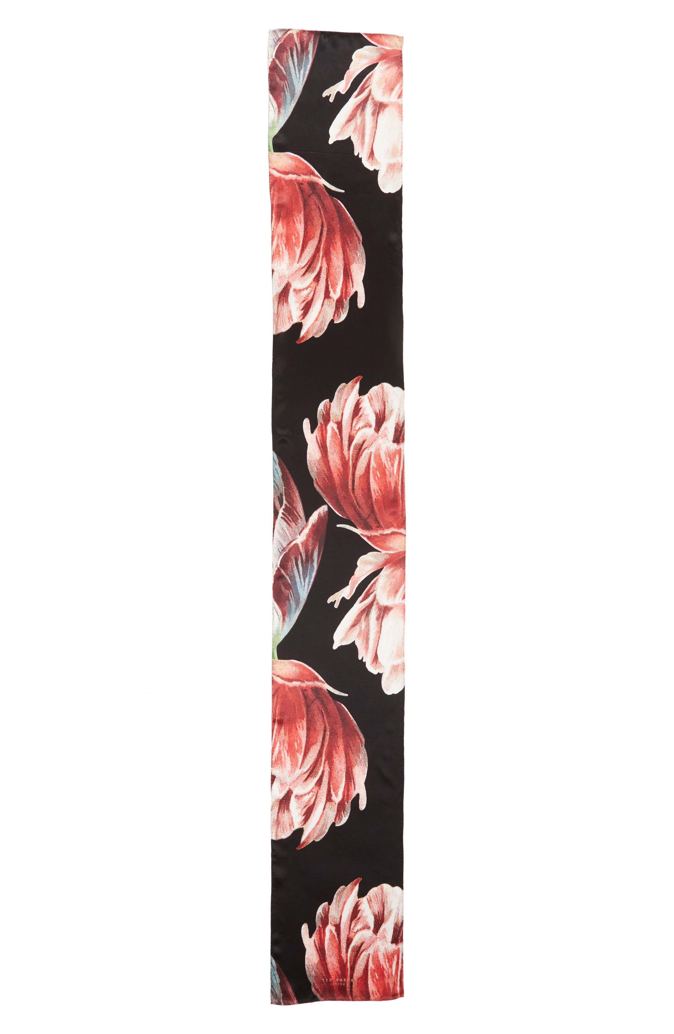 Tranquility Silk Scarf,                             Alternate thumbnail 3, color,                             001