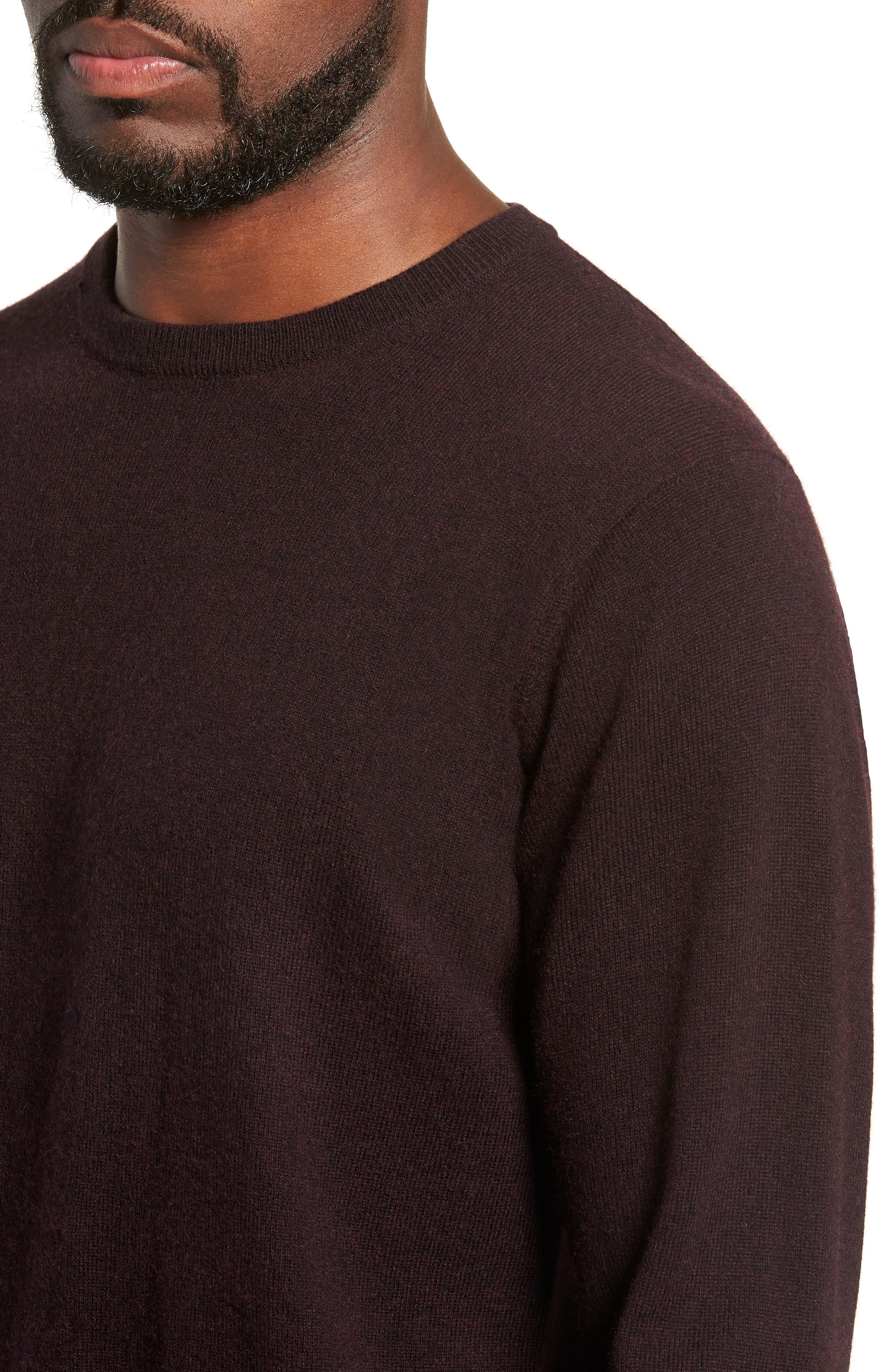 Queenstown Wool & Cashmere Sweater,                             Alternate thumbnail 4, color,                             BLACK FIG