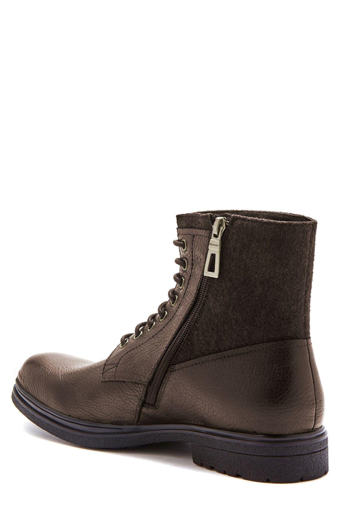'Backoff' Waterproof Plain Toe Boot,                             Alternate thumbnail 2, color,                             200