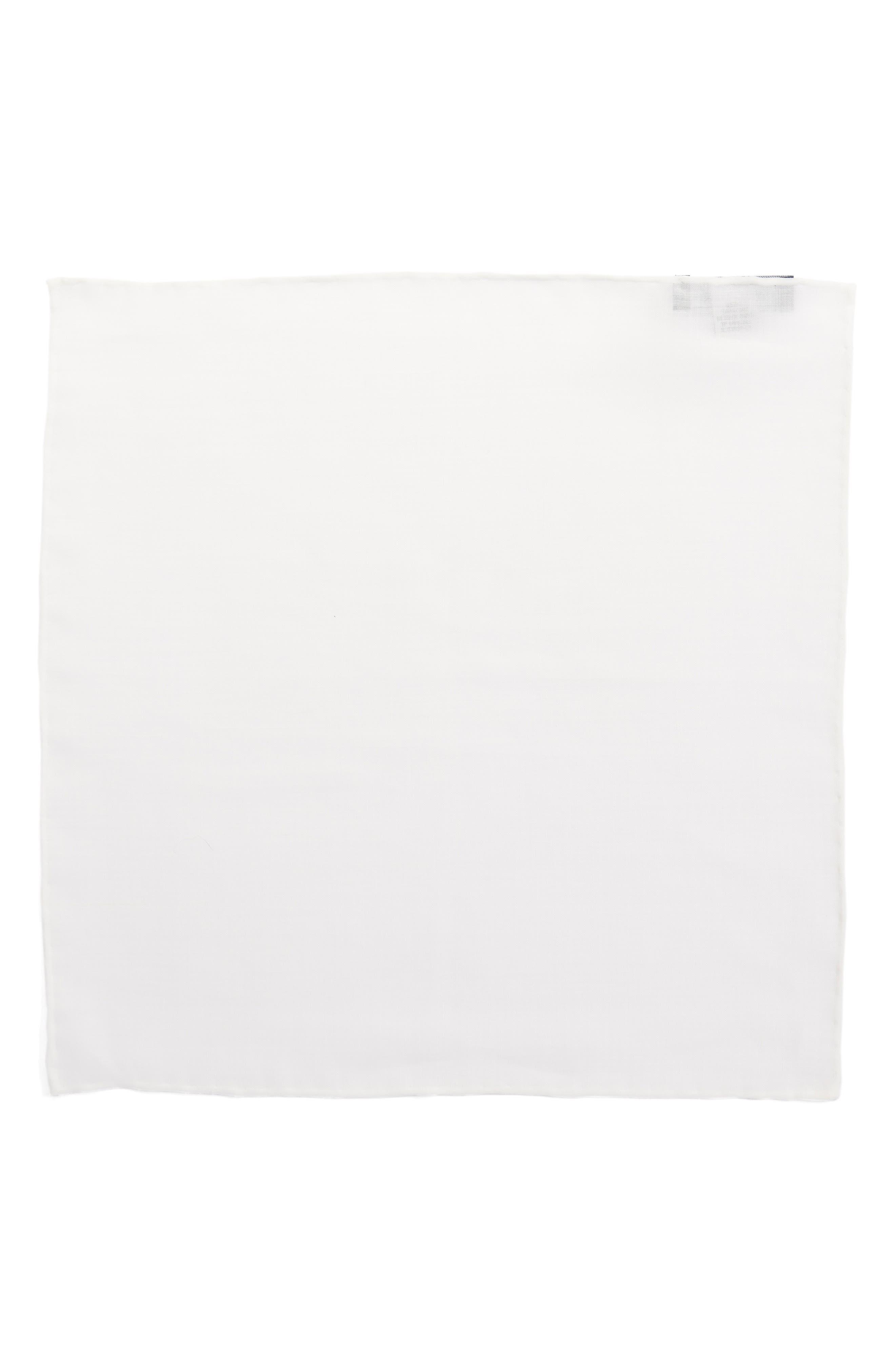 Solid Linen Pocket Square,                             Alternate thumbnail 2, color,                             100