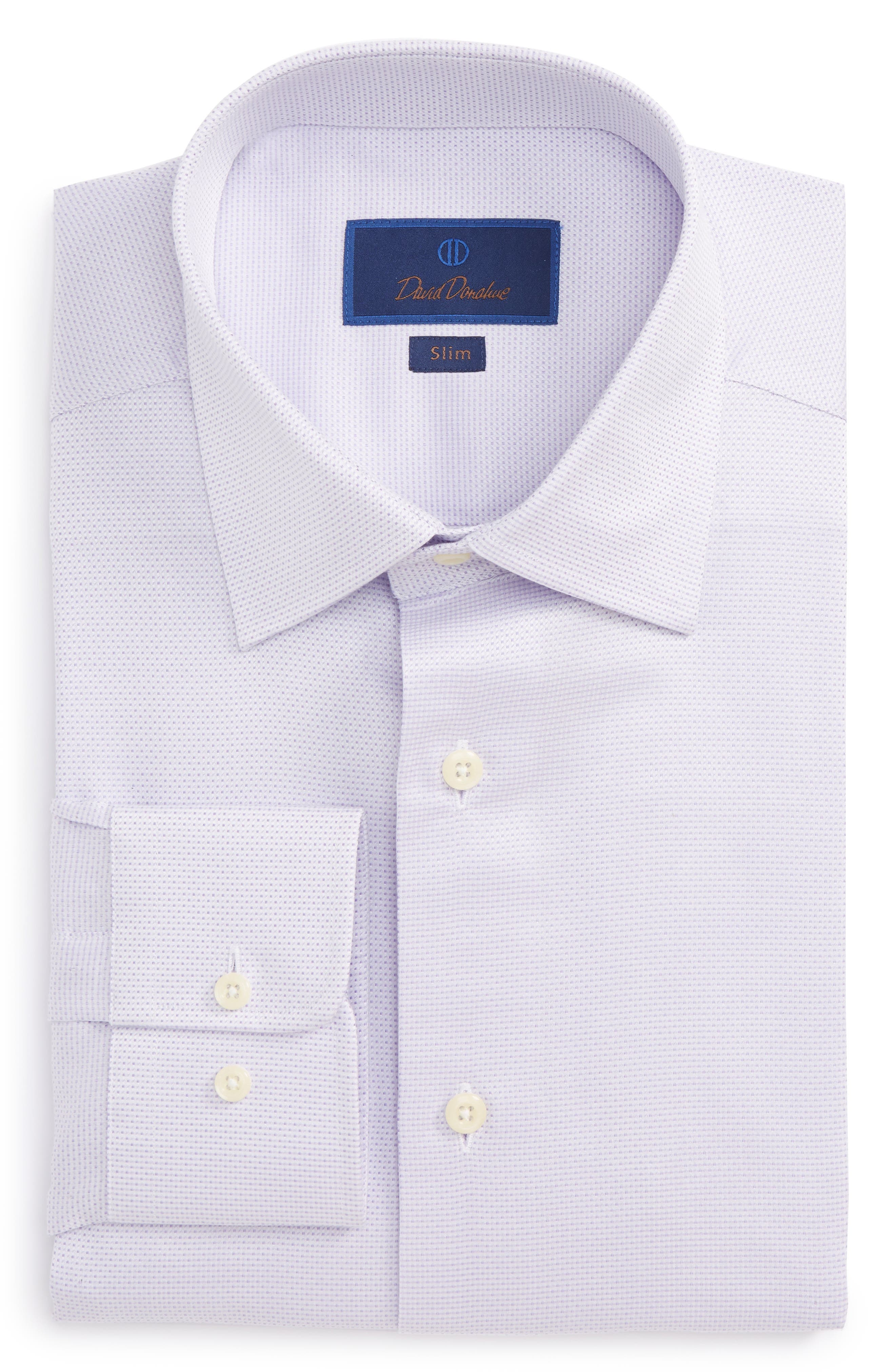 Slim Fit Dobby Dress Shirt,                             Main thumbnail 1, color,
