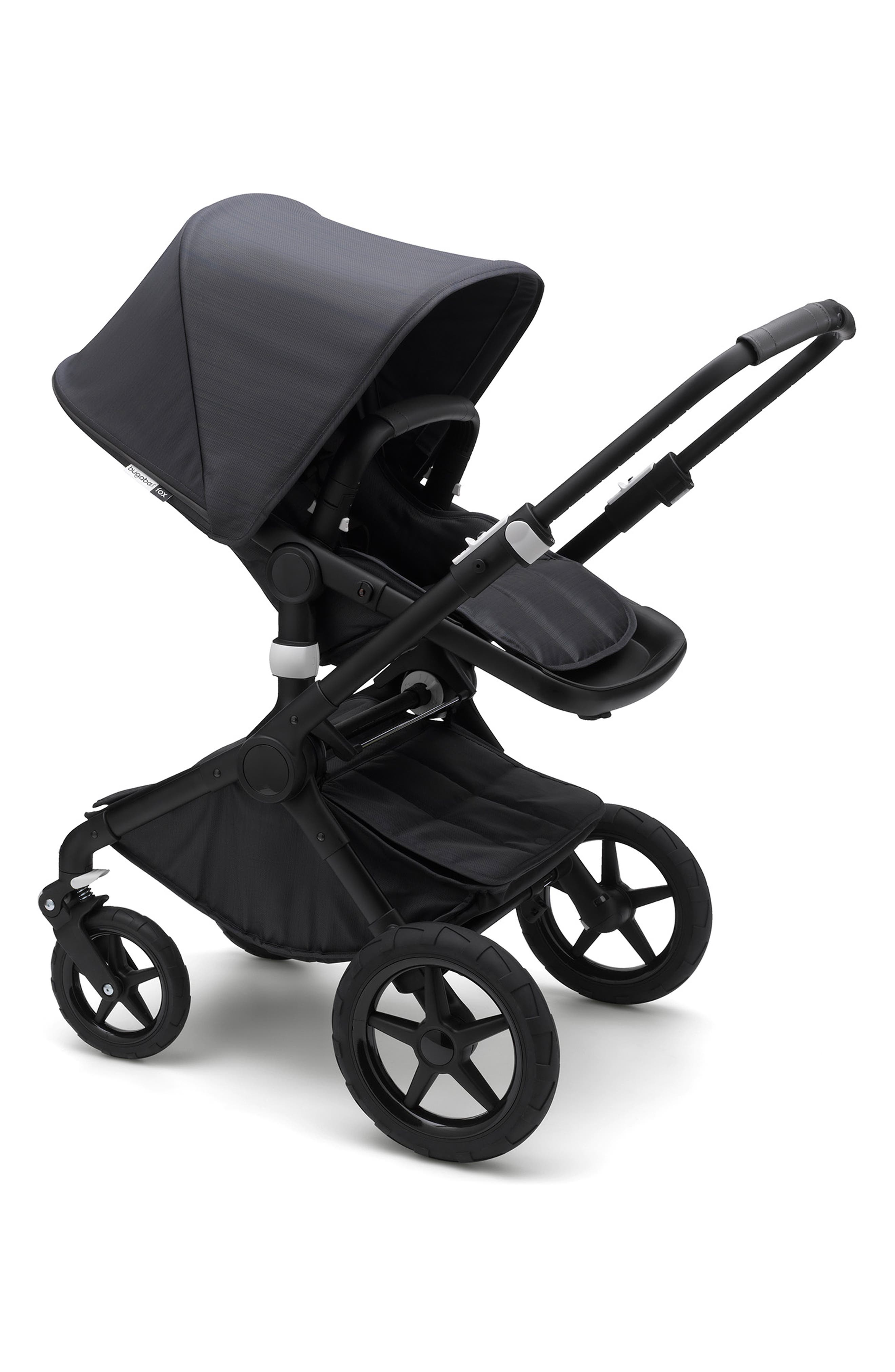 Fox Stellar Complete Reflective Stroller with Bassinet,                             Alternate thumbnail 5, color,                             MIDNIGHT BLUE