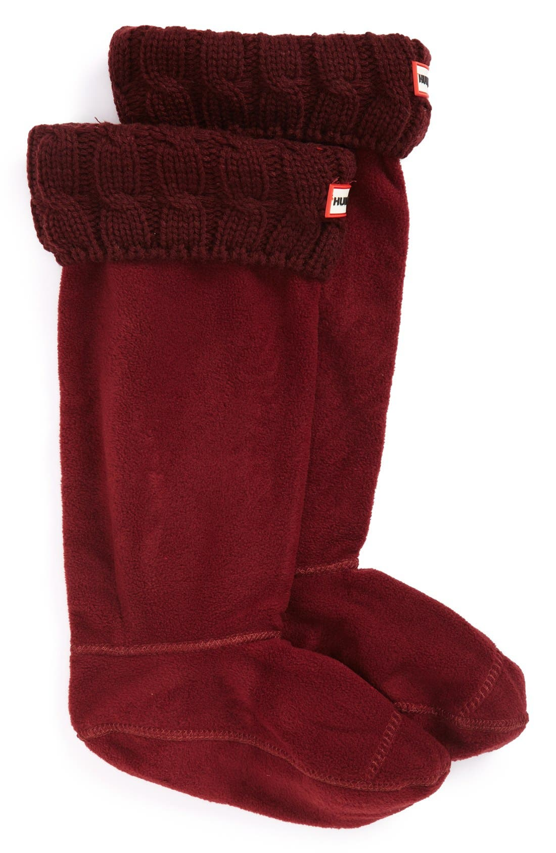 Original Tall Cable Knit Cuff Welly Boot Socks,                             Main thumbnail 9, color,